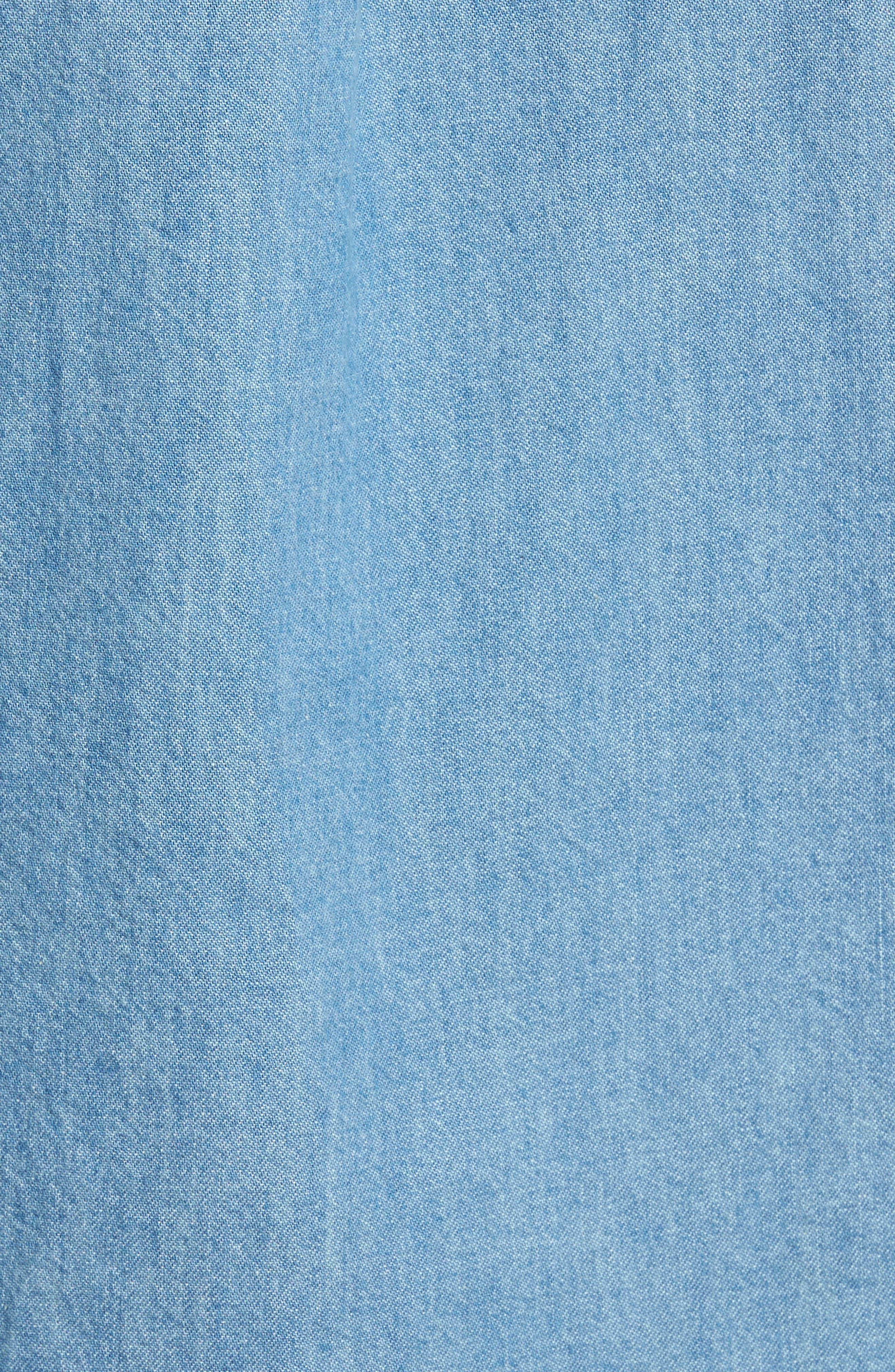 Washed Denim Shirt,                             Alternate thumbnail 5, color,                             Blue