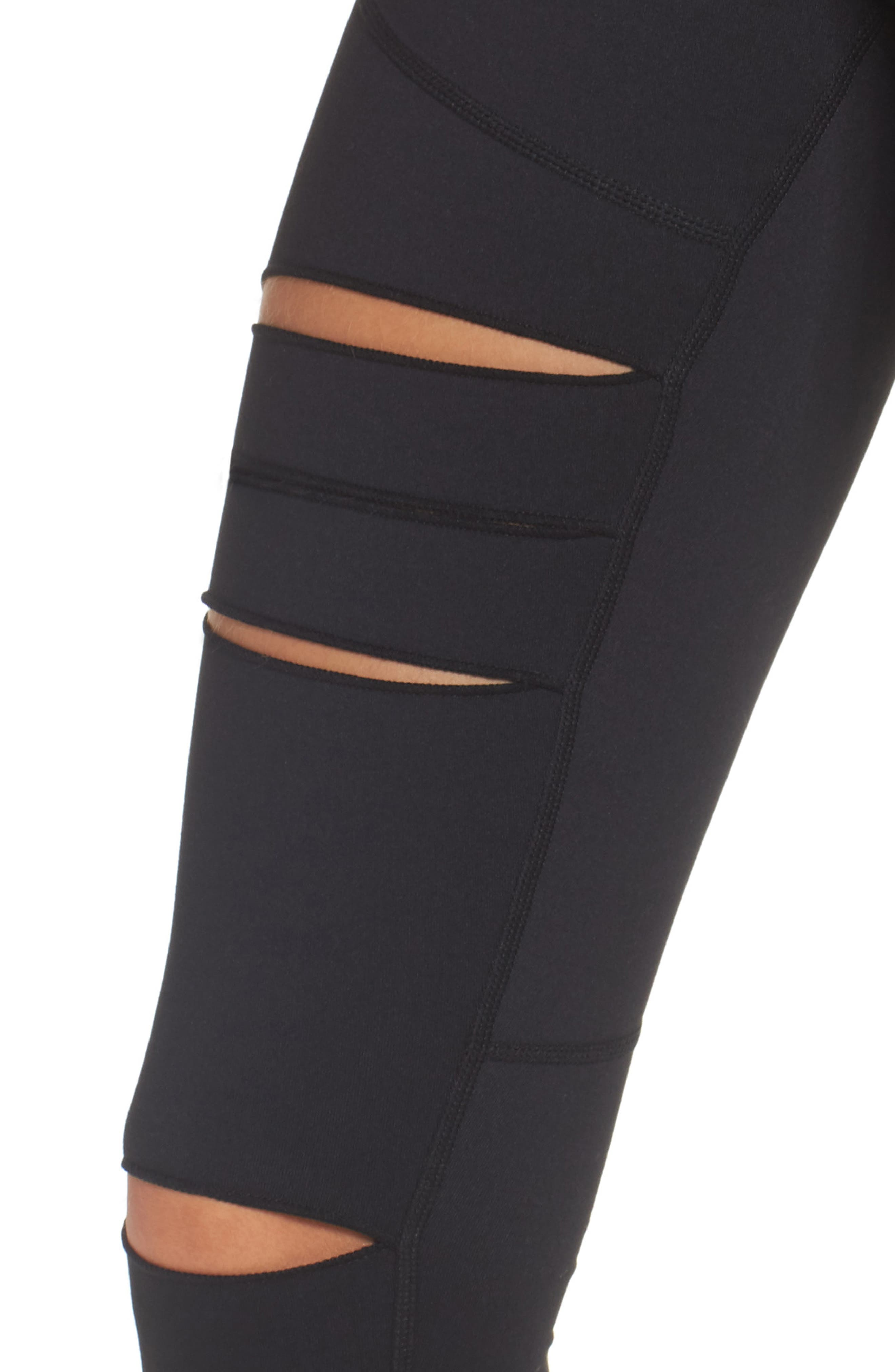 Alternate Image 4  - Zella Cece High Waist Open Knee Leggings