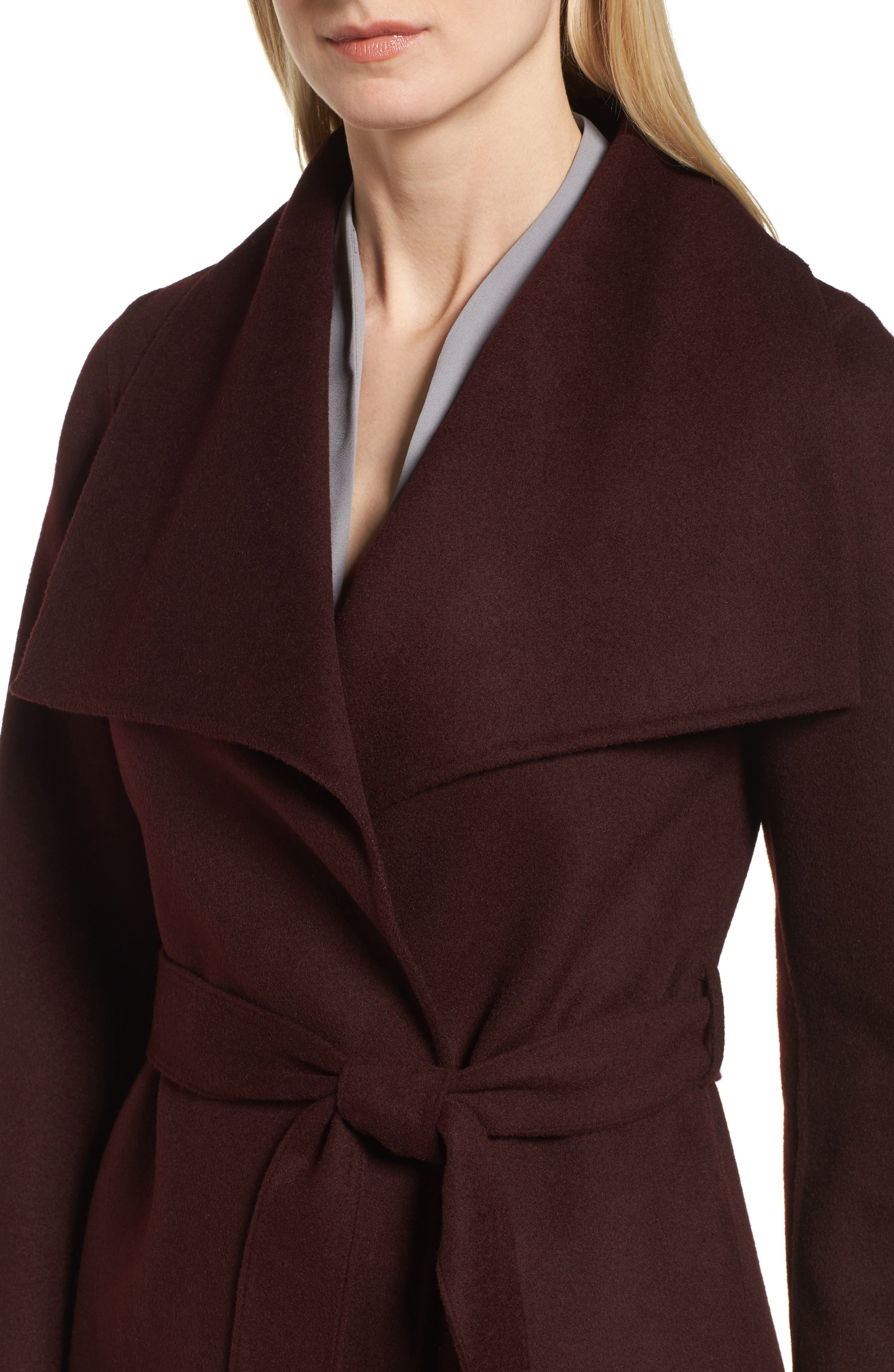 Alternate Image 4  - Tahari 'Ella' Belted Double Face Wool Blend Wrap Coat (Regular & Petite)