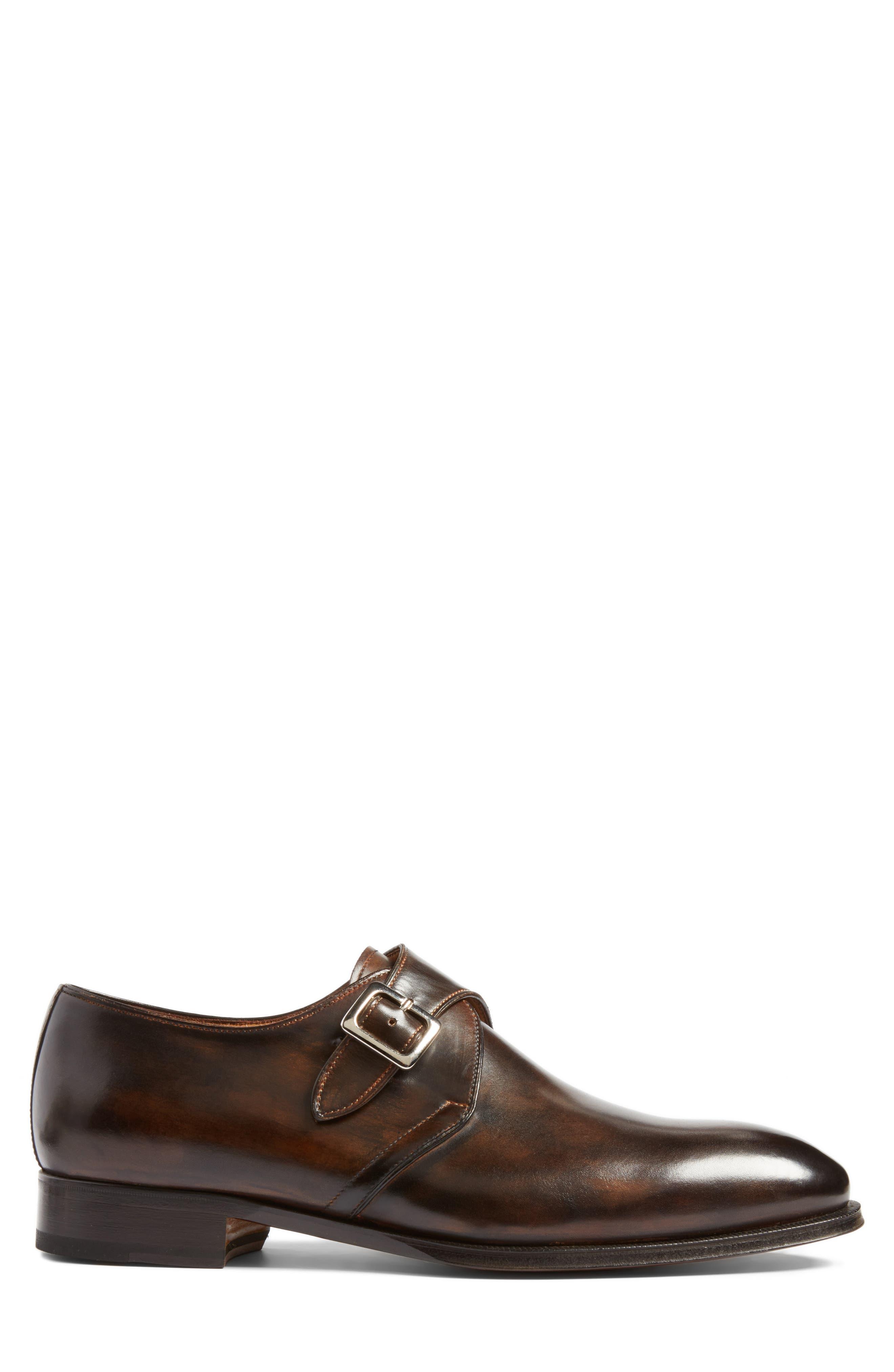 Monk Strap Shoe,                             Alternate thumbnail 3, color,                             Brown