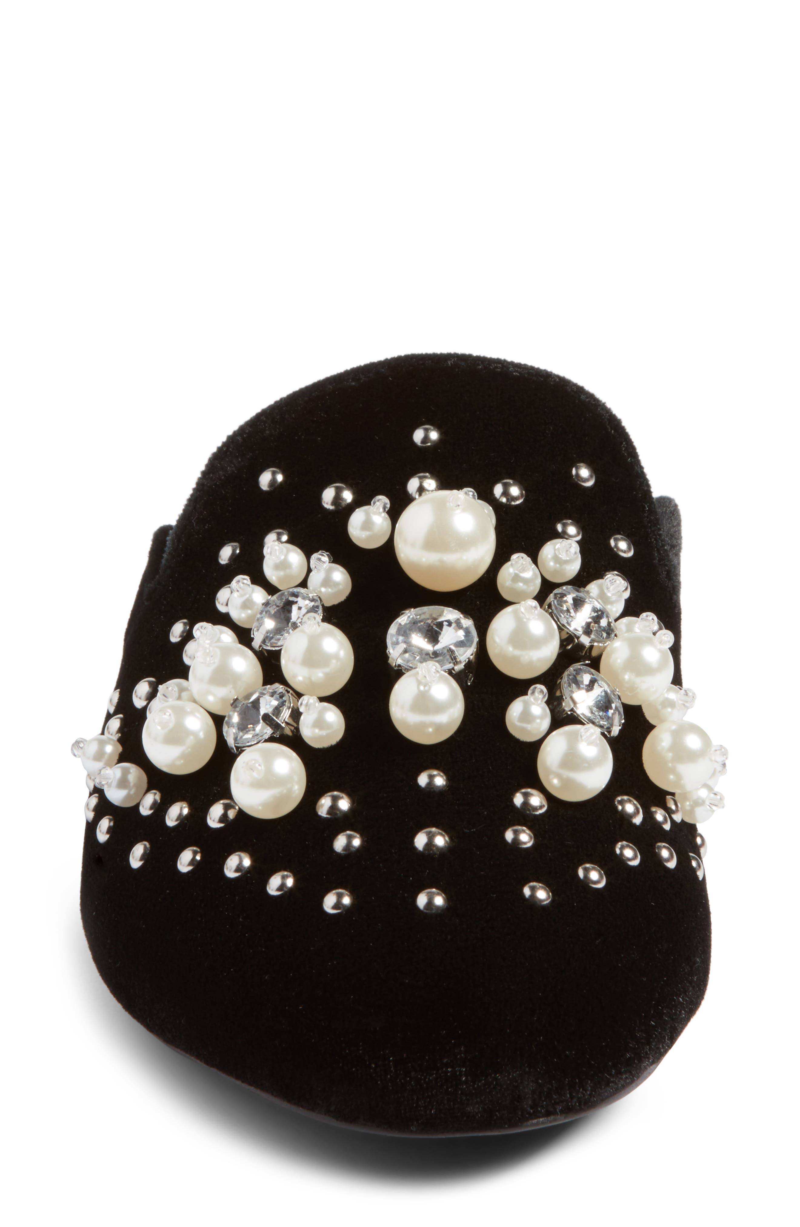 Alternate Image 4  - Steve Madden Imitation Pearl Embellished Mule (Women)