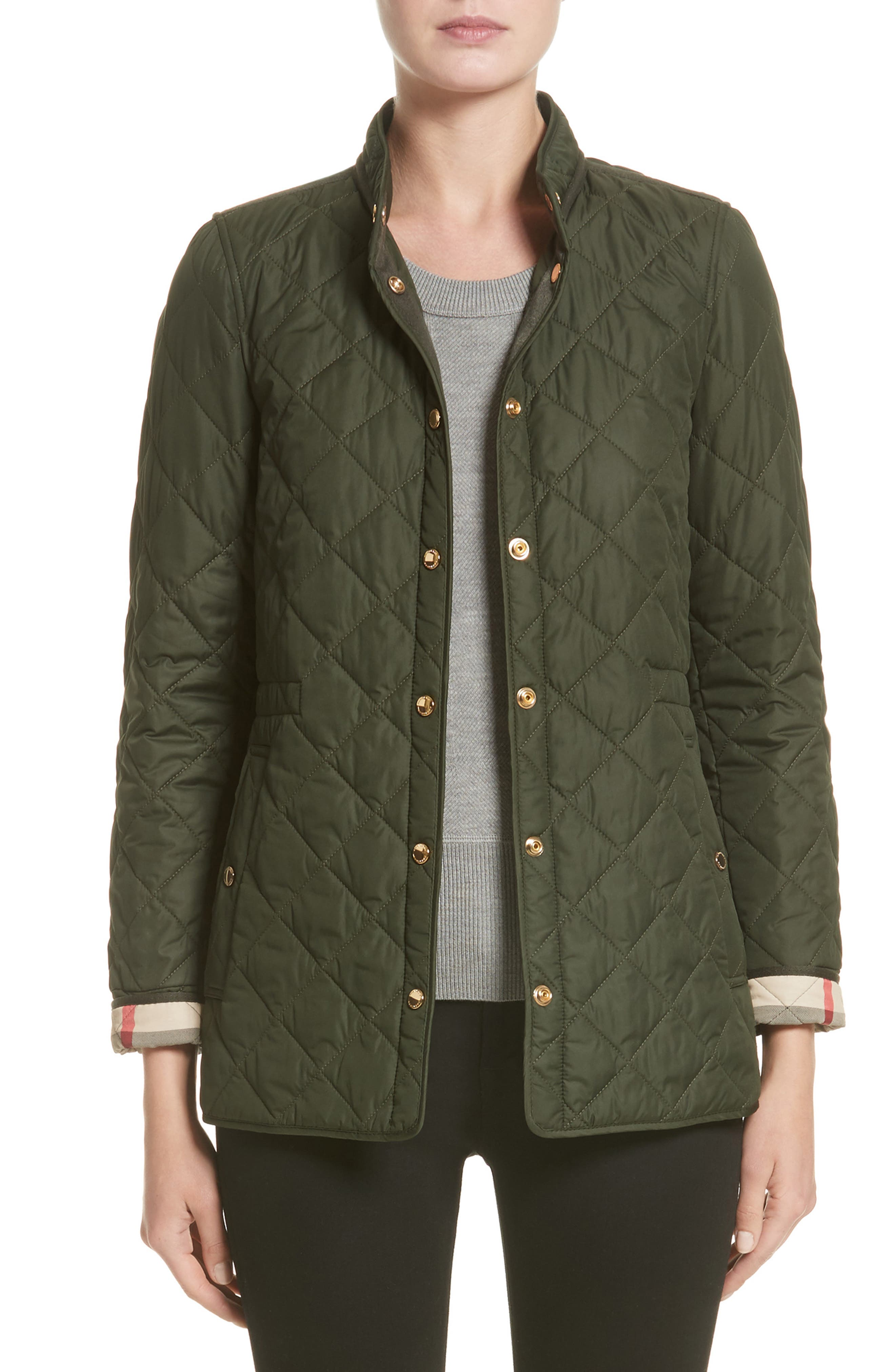 Pensham Quilted Jacket,                         Main,                         color, Military Green