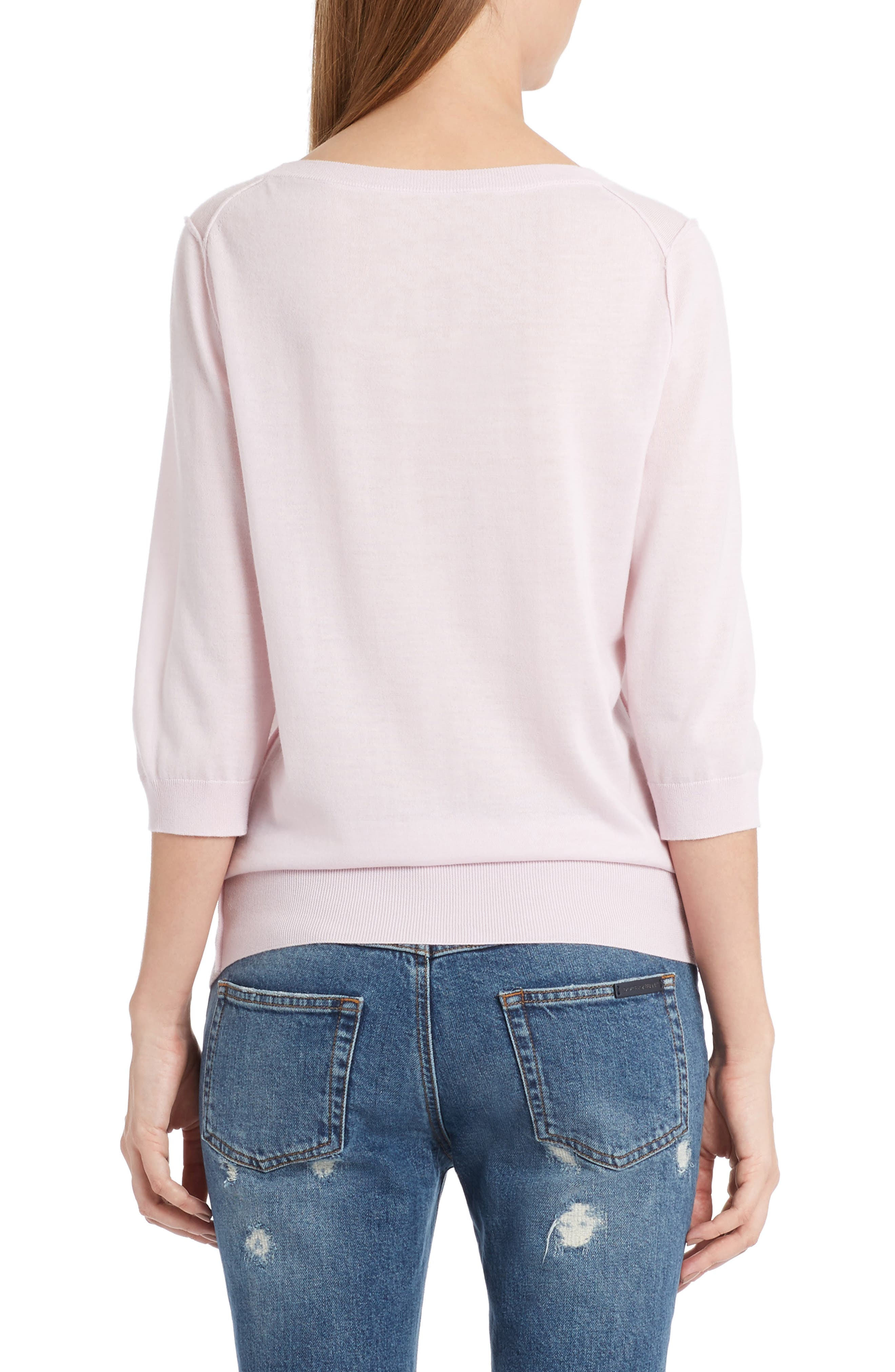 Cashmere Sweater,                             Alternate thumbnail 2, color,                             Powder Pink