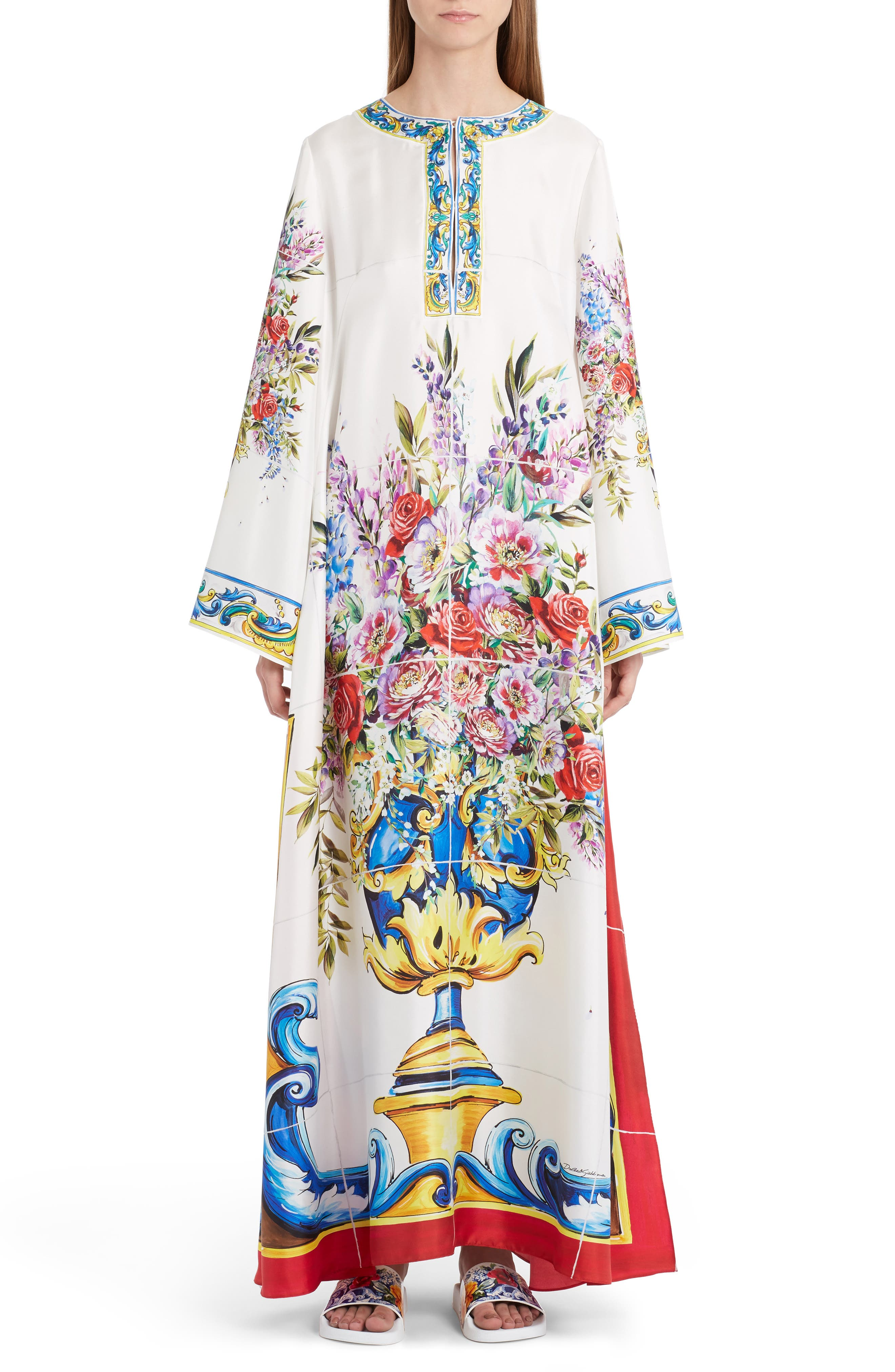 Dolce&Gabbana Print Silk Caftan