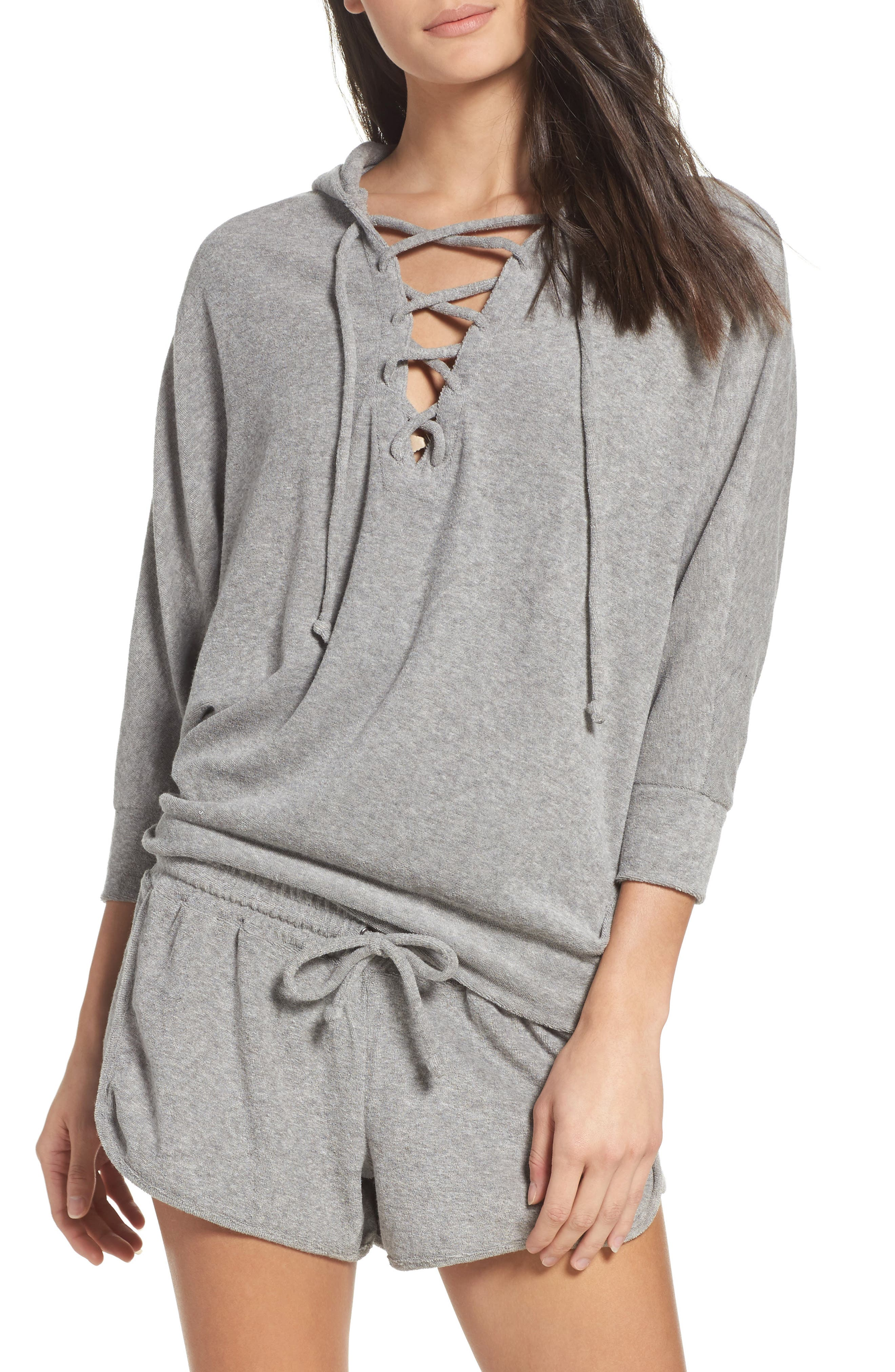 Chaser Lace-Up Lounge Hoodie