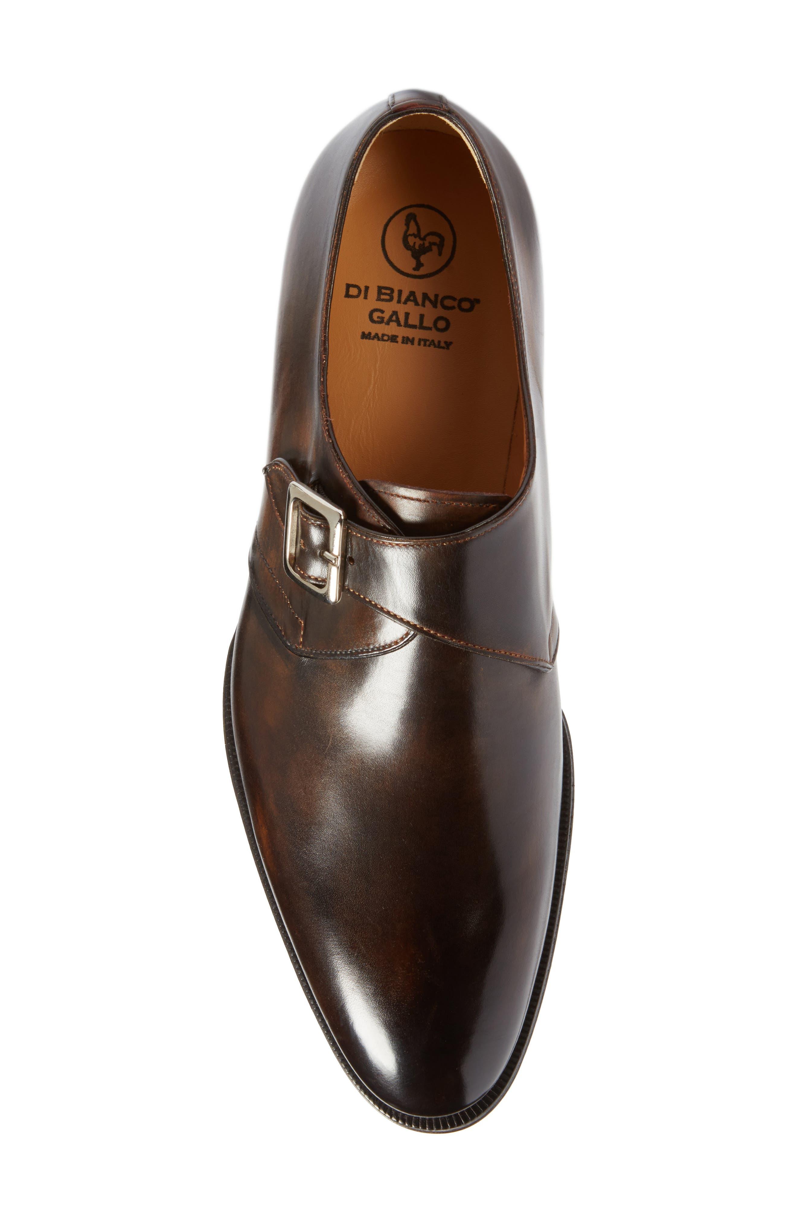 Monk Strap Shoe,                             Alternate thumbnail 5, color,                             Brown