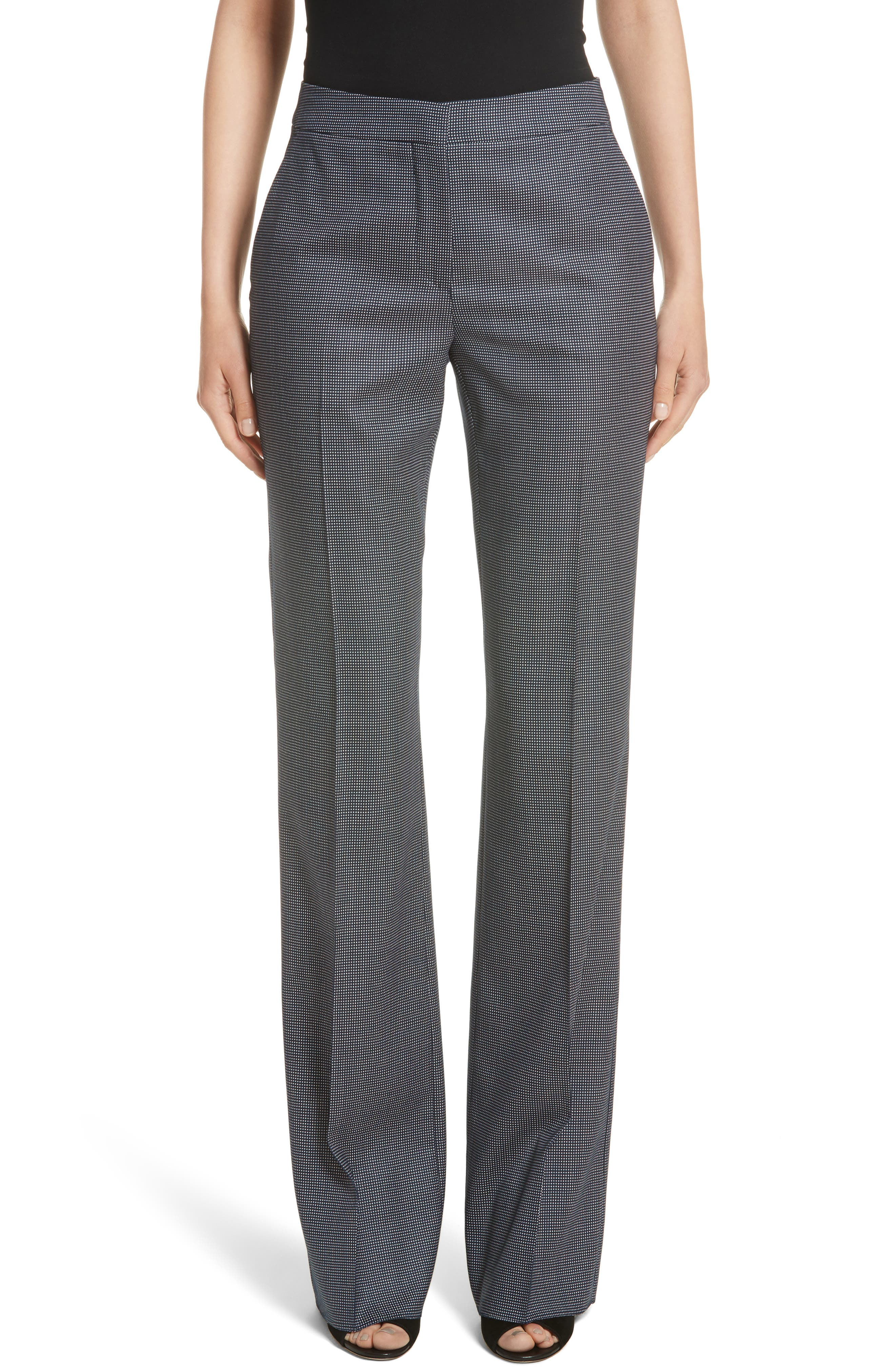 Max Mara Alessia Stretch Wool & Silk Pants (Nordstrom Exclusive)