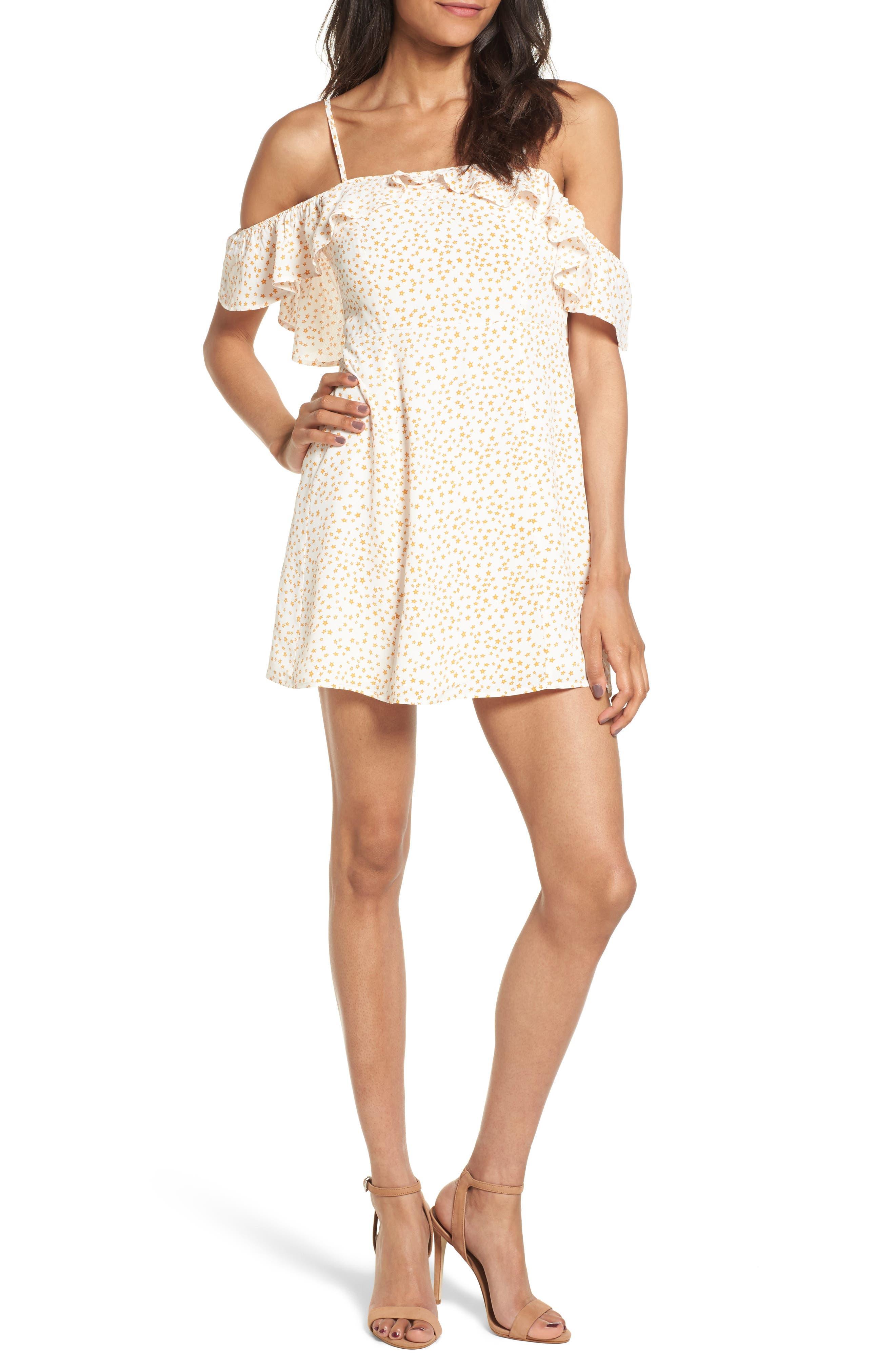 Alternate Image 1 Selected - For Love & Lemons Aurora Ruffle Shift Dress