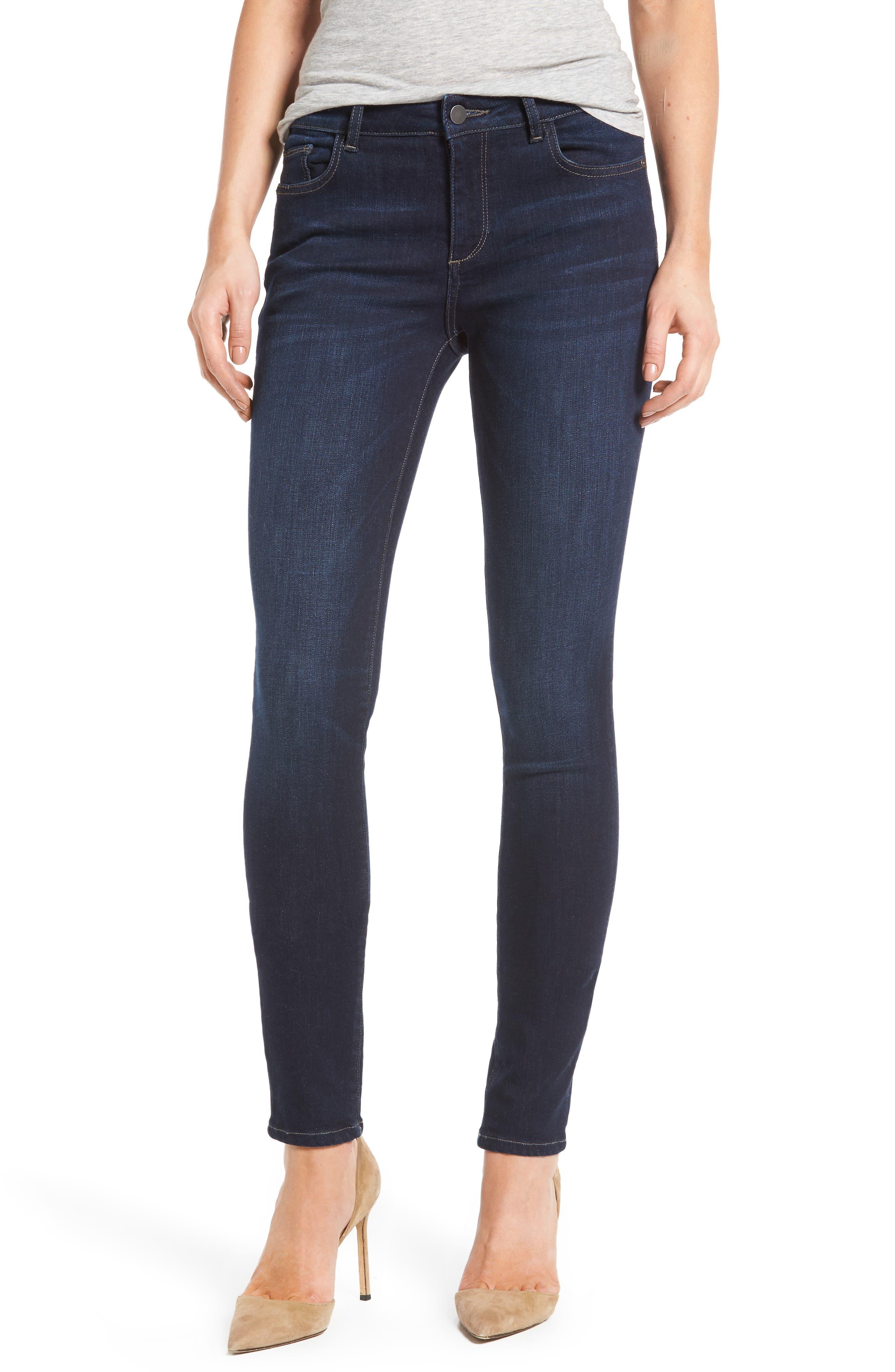 Main Image - DL1961 Florence Instasculpt Skinny Jeans (Crux)