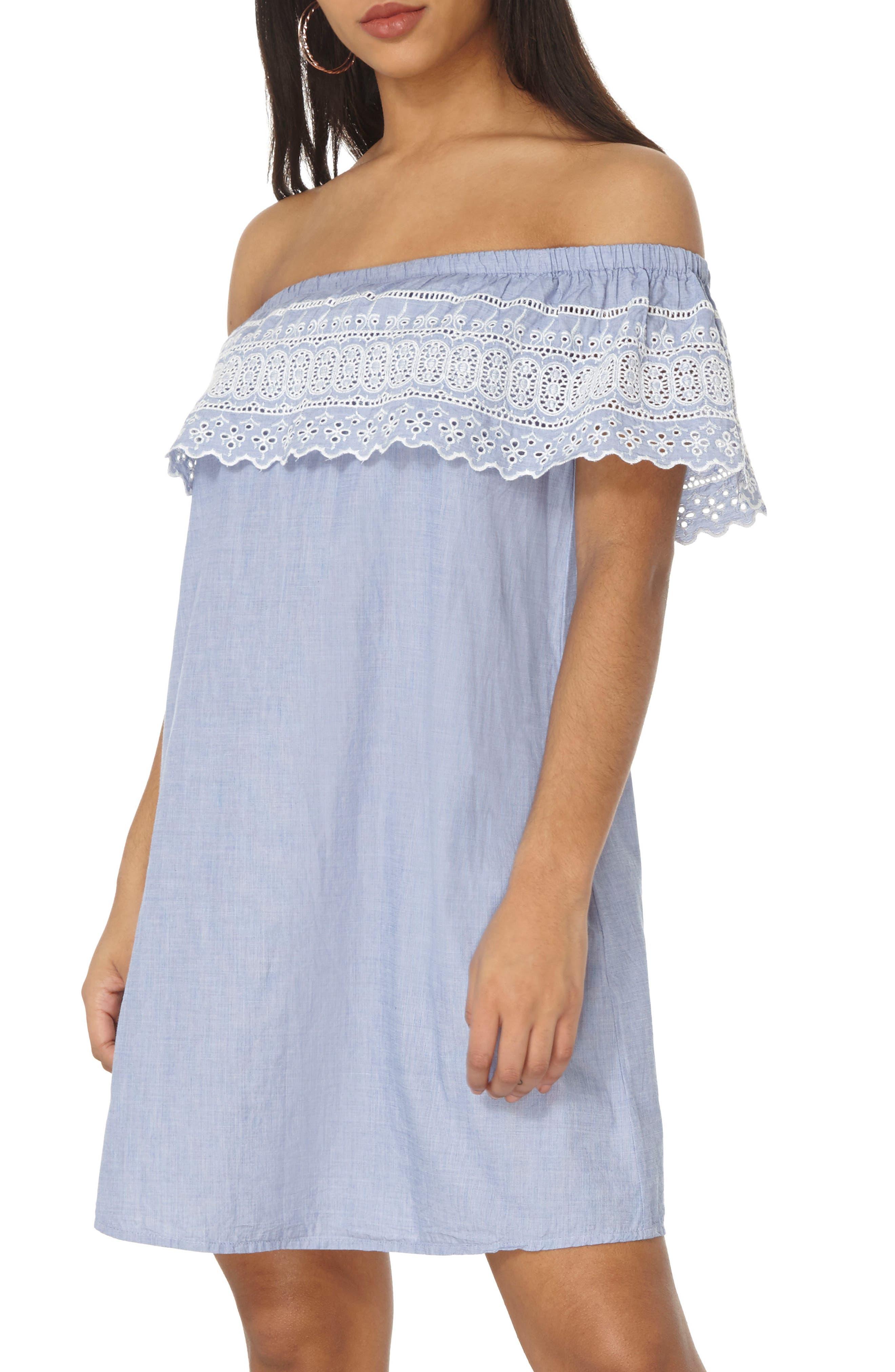 DOROTHY PERKINS Broderie Bardot Dress