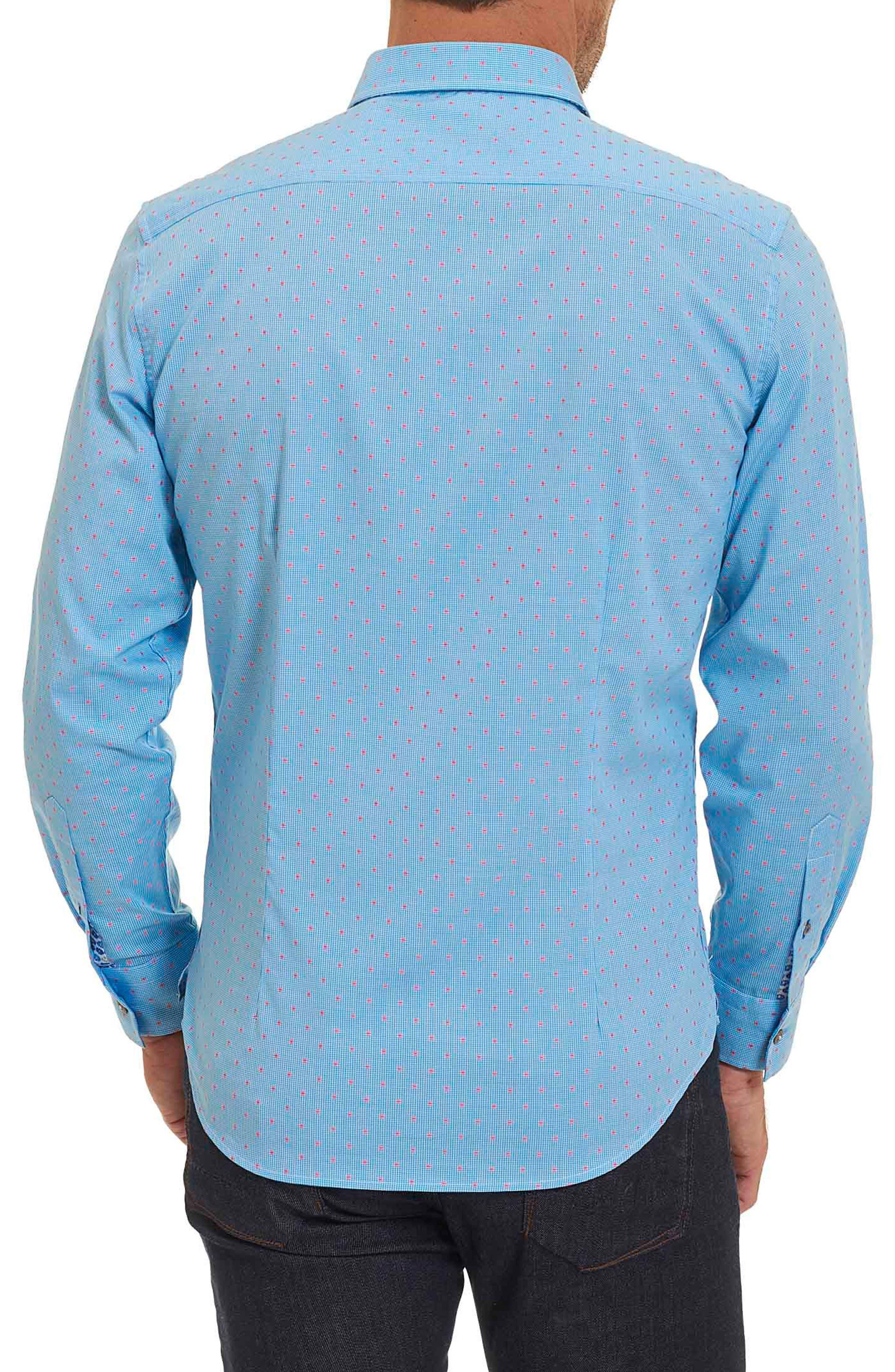 Alternate Image 2  - Robert Graham Tailored Fit Houndstooth Sport Shirt