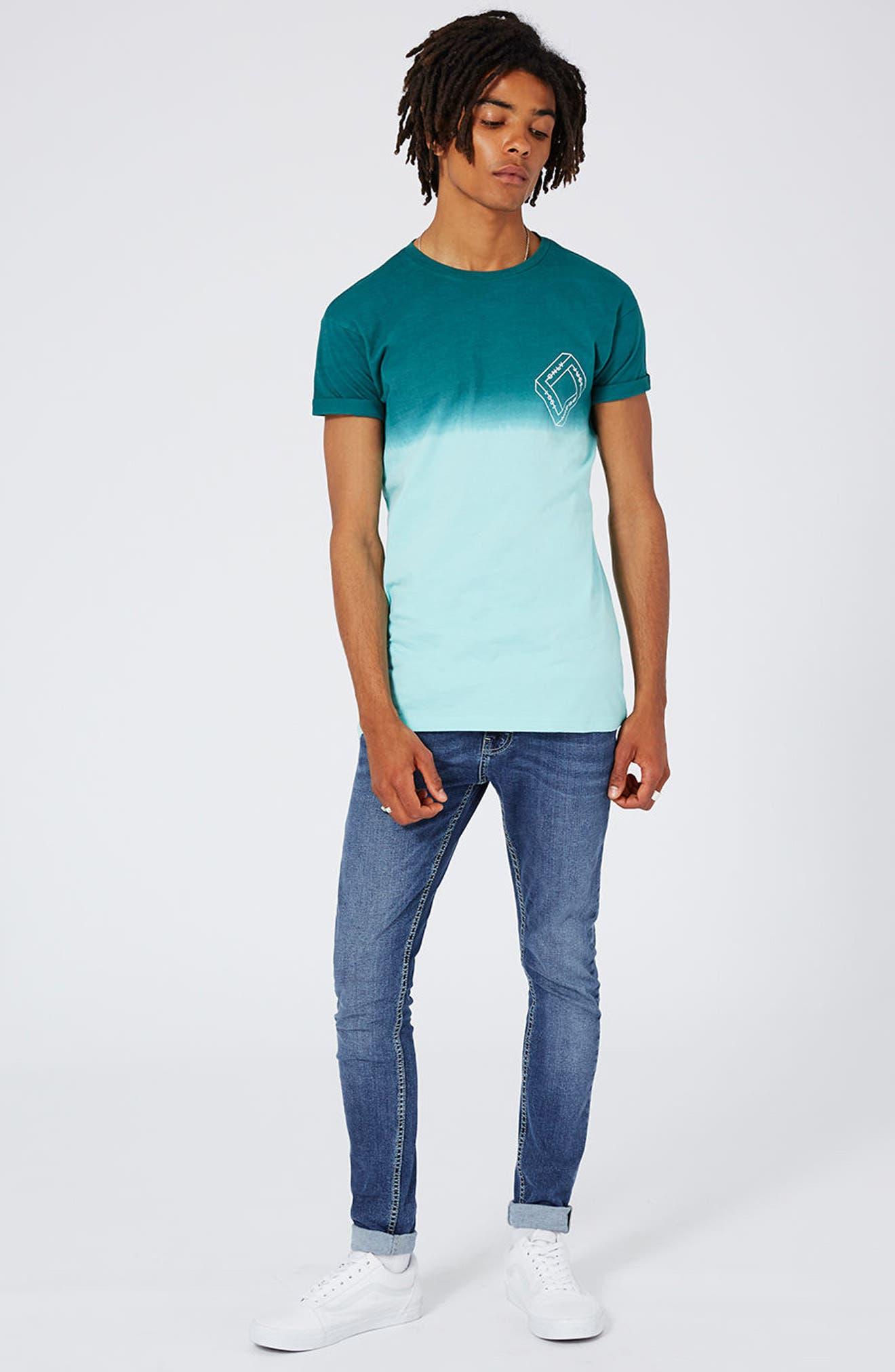 Alternate Image 2  - Topman Spray-On Skinny Fit Jeans