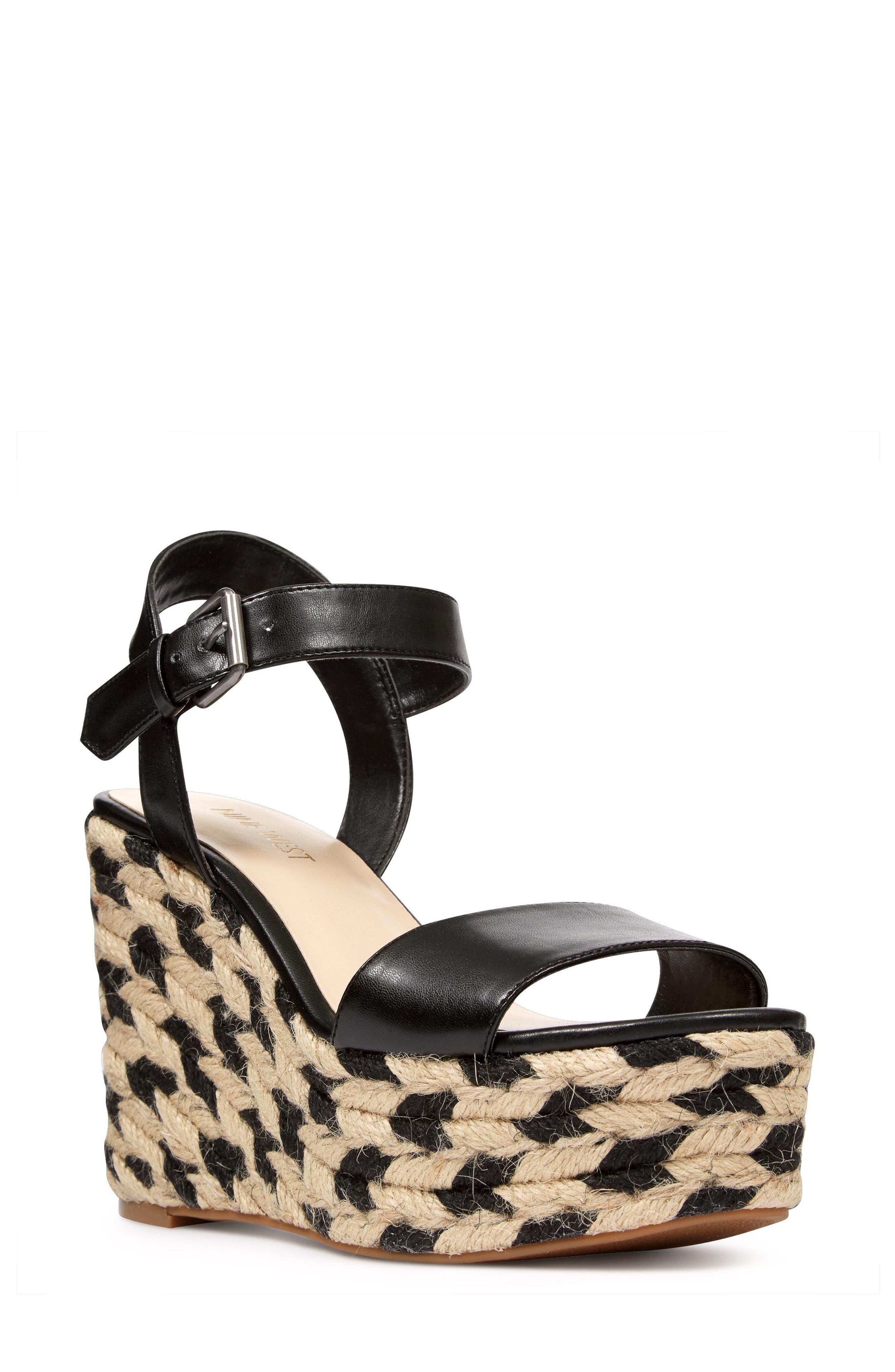 Alternate Image 1 Selected - Nine West Do It Right Platform Wedge Sandal (Women)