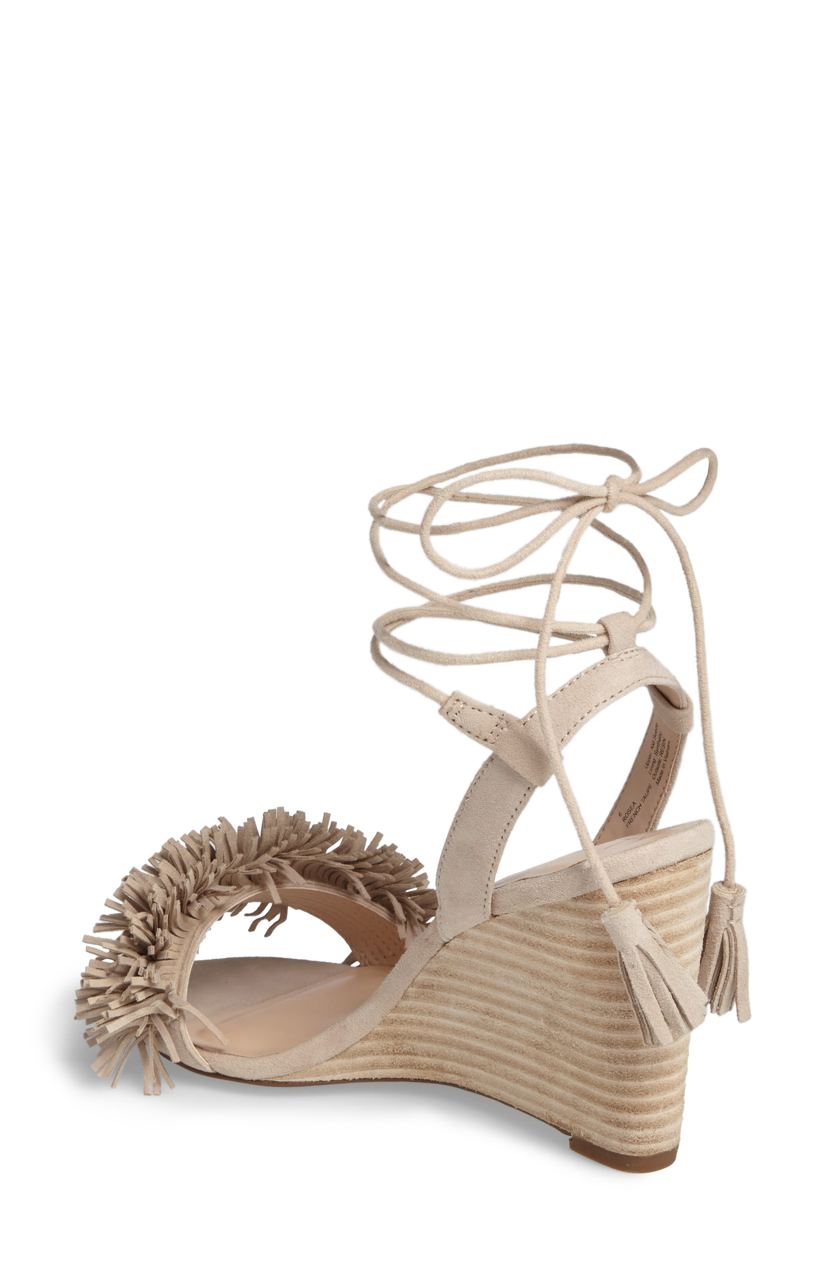Rosea Ankle Wrap Sandal,                             Alternate thumbnail 2, color,                             French Taupe Suede