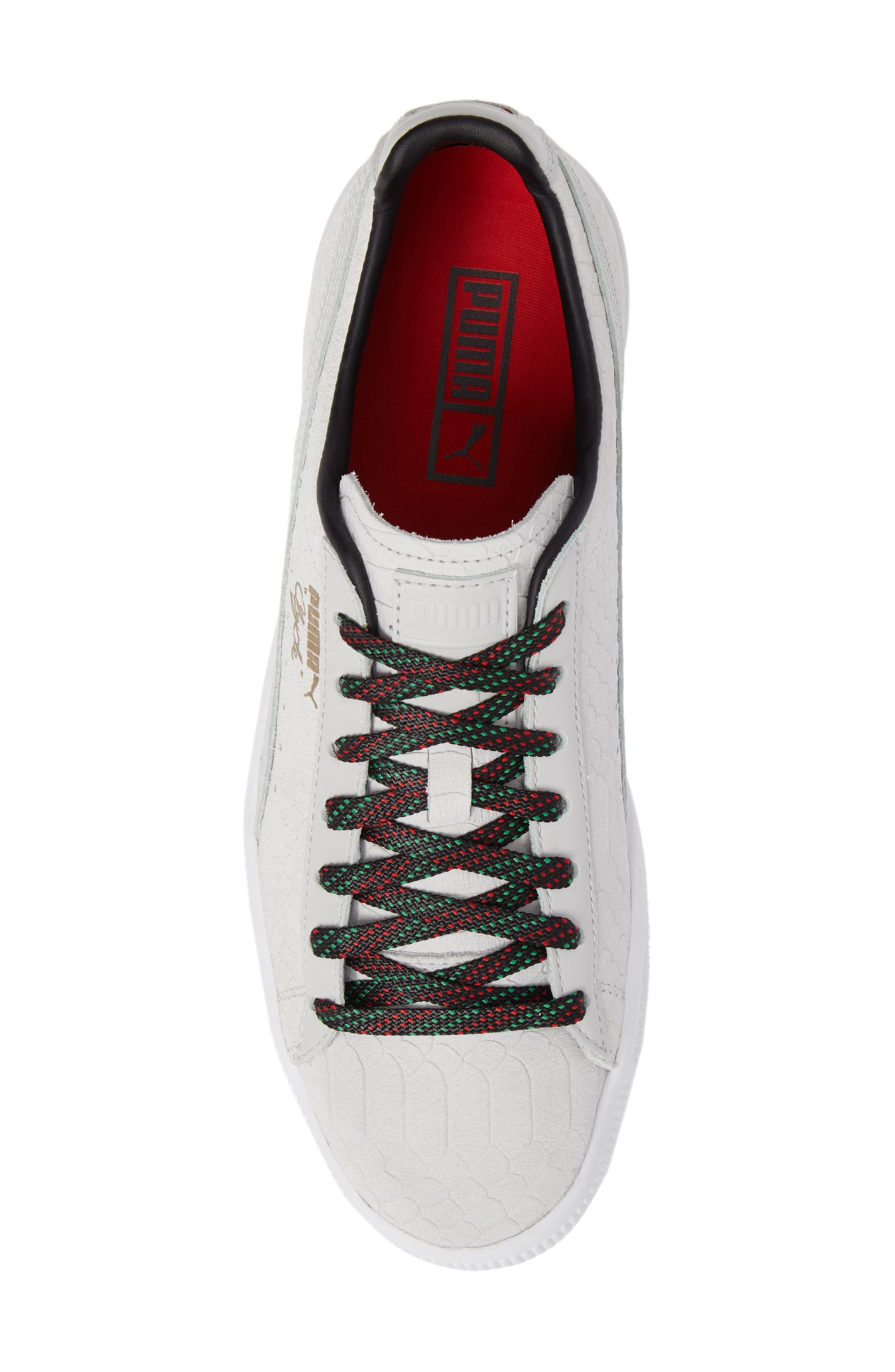 Clyde GCC Sneaker,                             Alternate thumbnail 5, color,                             White/ Puma Black