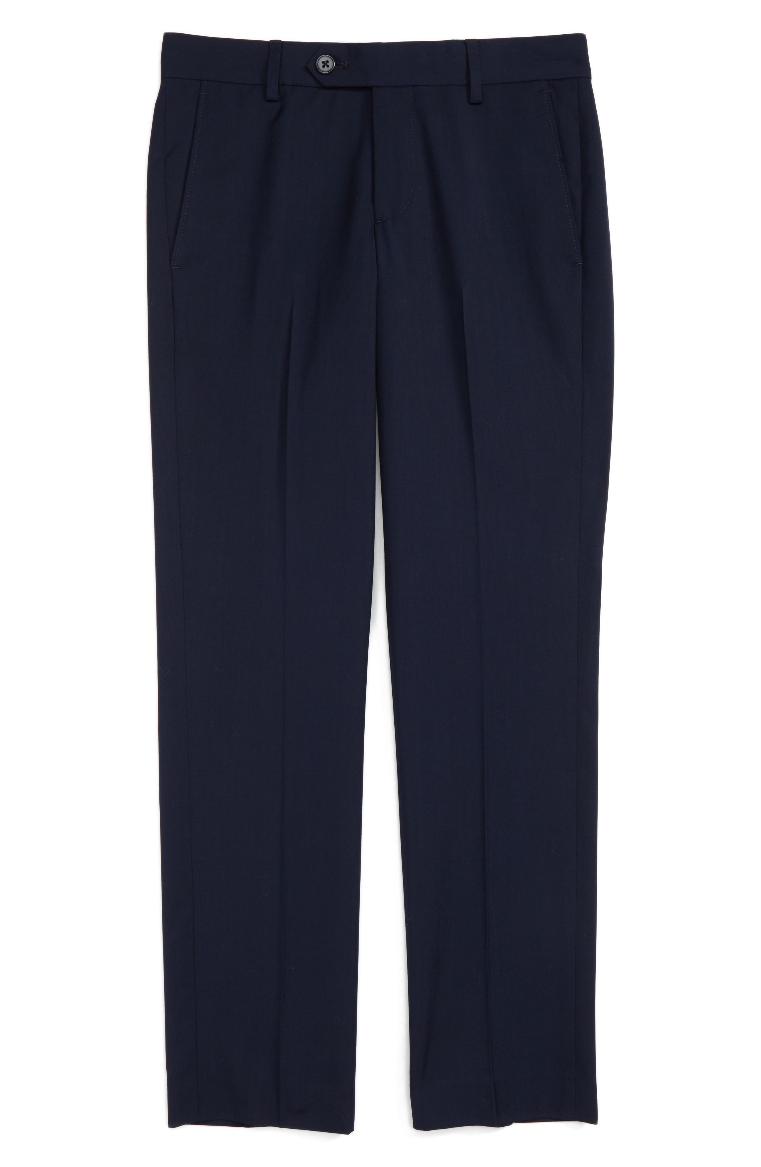 Nordstrom Elliott Slim Fit Flat Front Trousers (Toddler Boys, Little Boys & Big Boys)