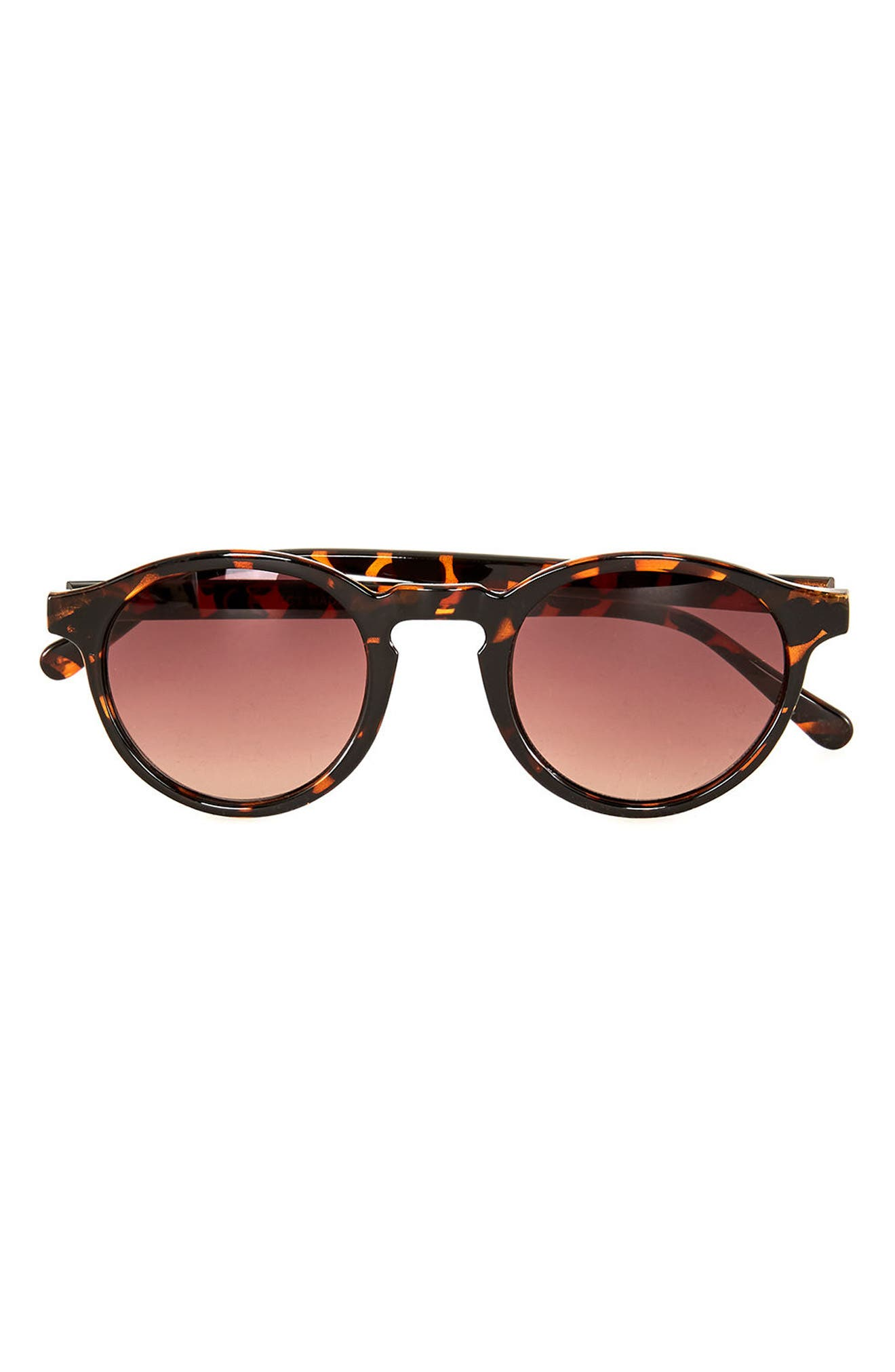 Topman 44mm Round Sunglasses