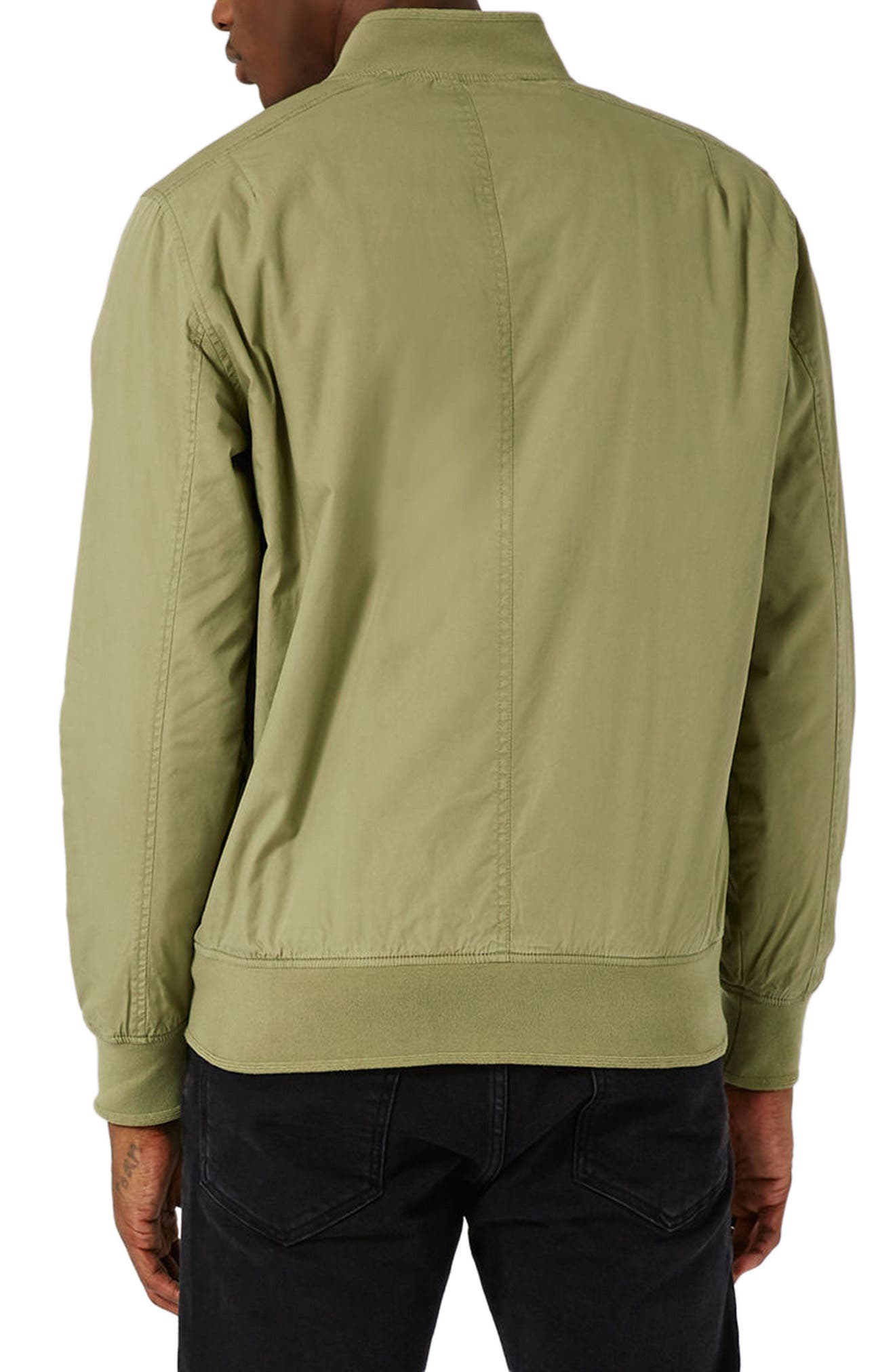 Classic Bomber Jacket,                             Alternate thumbnail 3, color,                             Olive