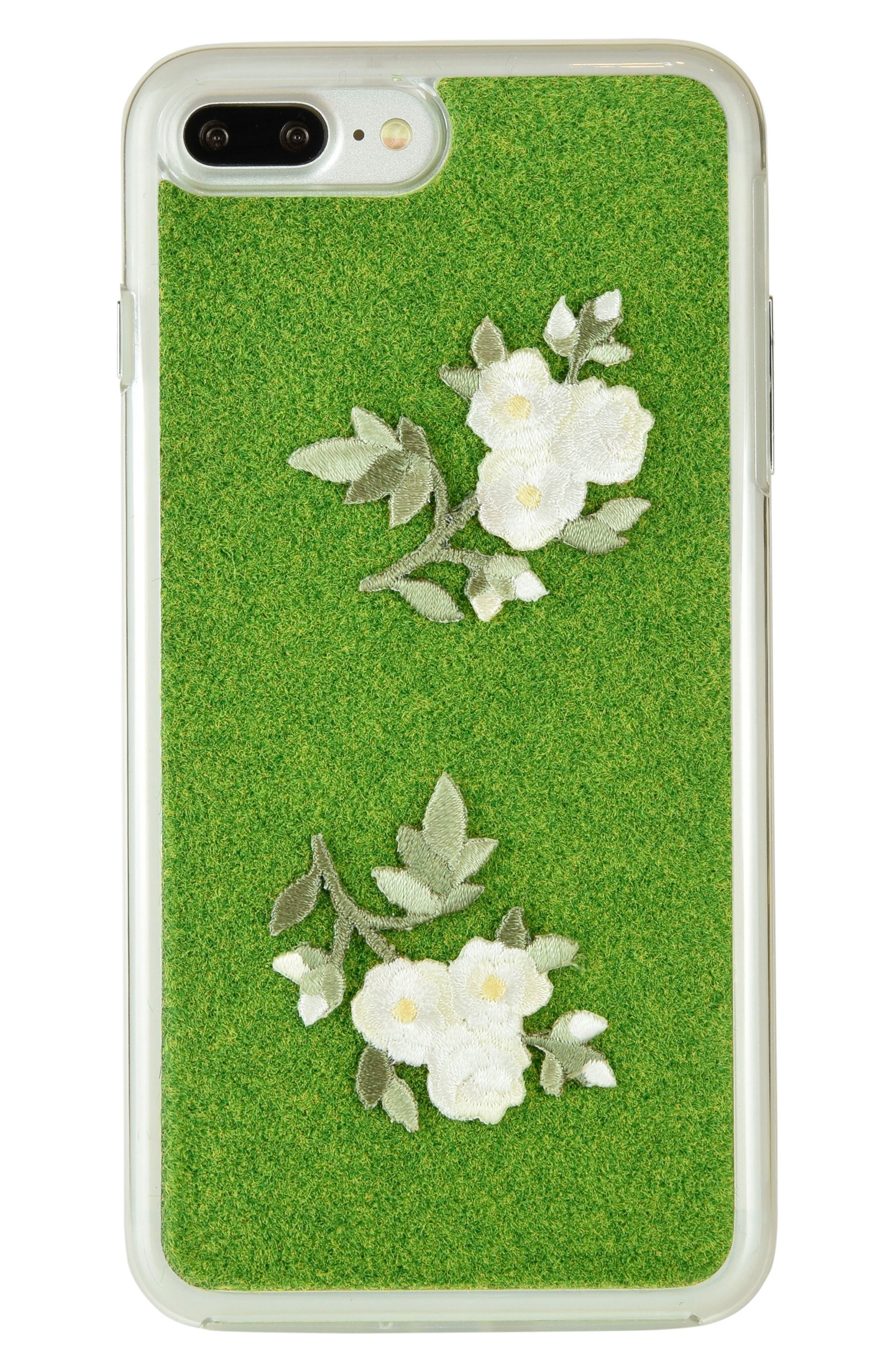 Mokko Bara Flower Portable Park iPhone 7/8 & 7/8 Plus Case,                         Main,                         color, Original Green