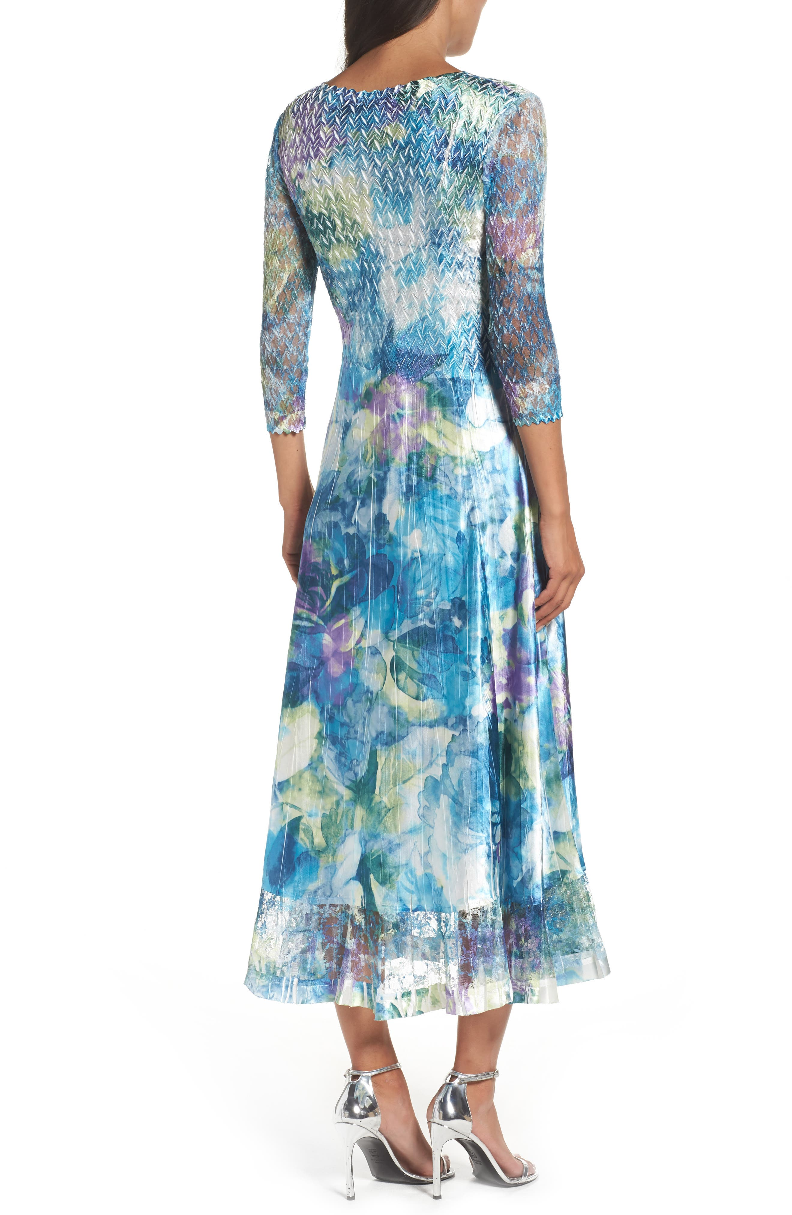 A-Line Dress,                             Alternate thumbnail 2, color,                             Cerulean Orchid