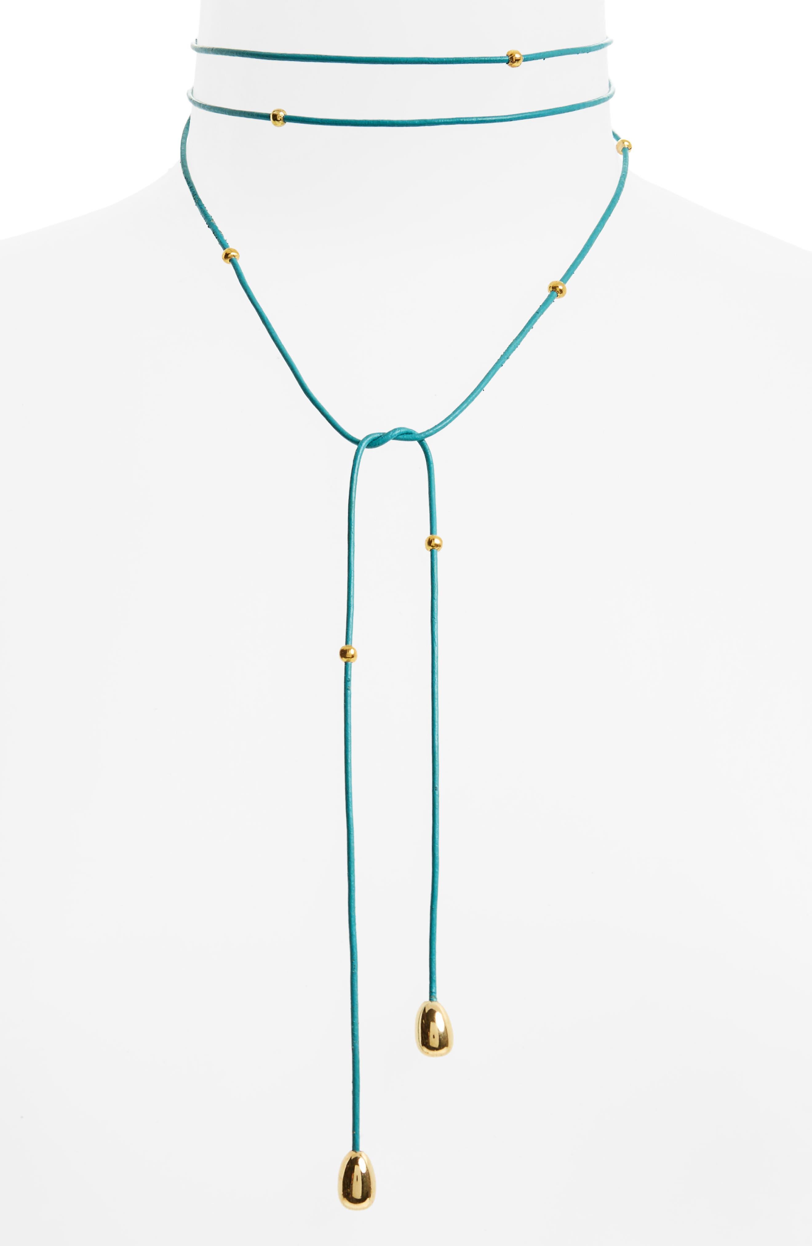 Elizabeth and James Rosa Dottie Convertible Wrap Necklace