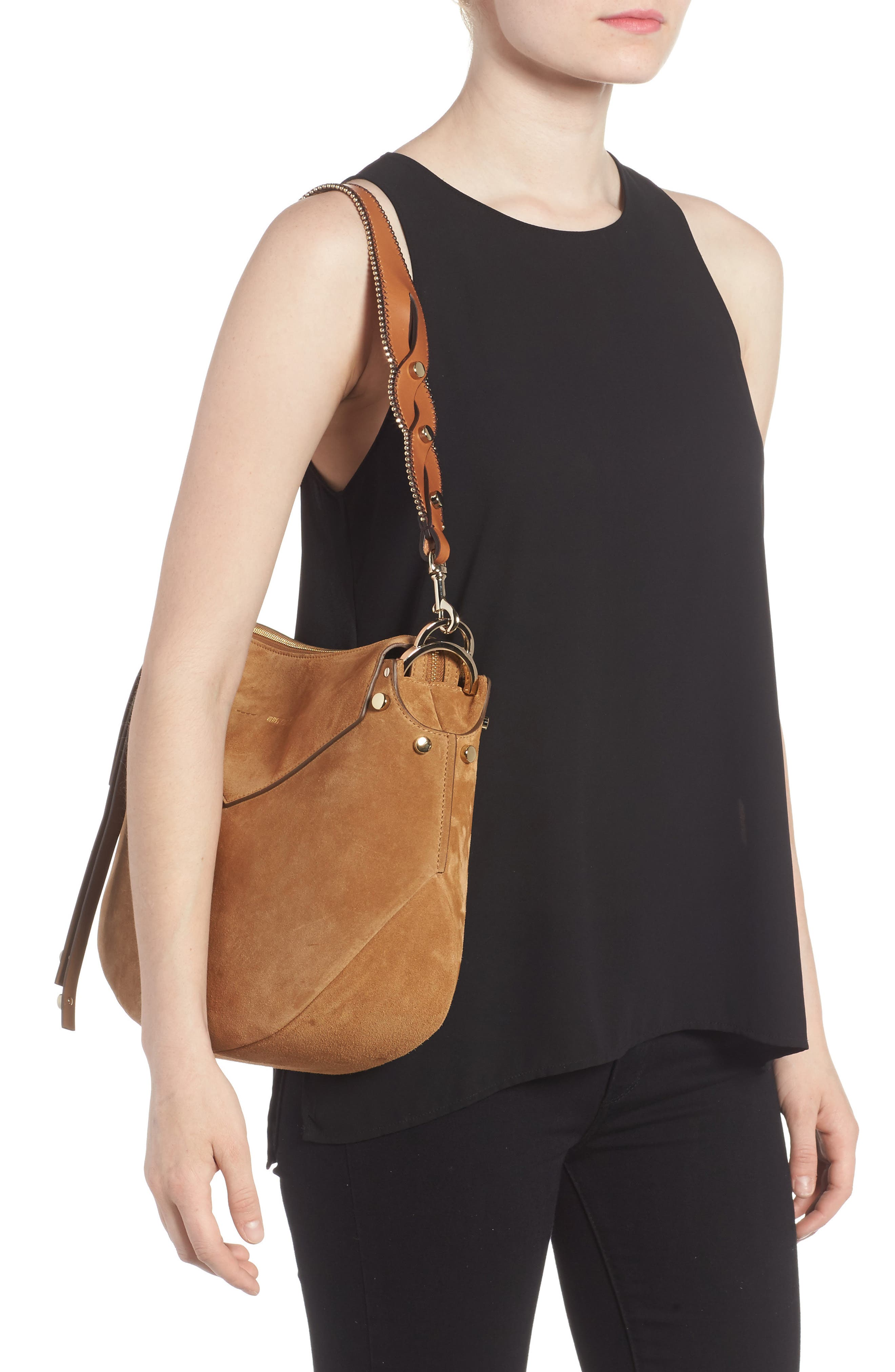 Alternate Image 2  - Jimmy Choo Artie Suede Hobo Bag