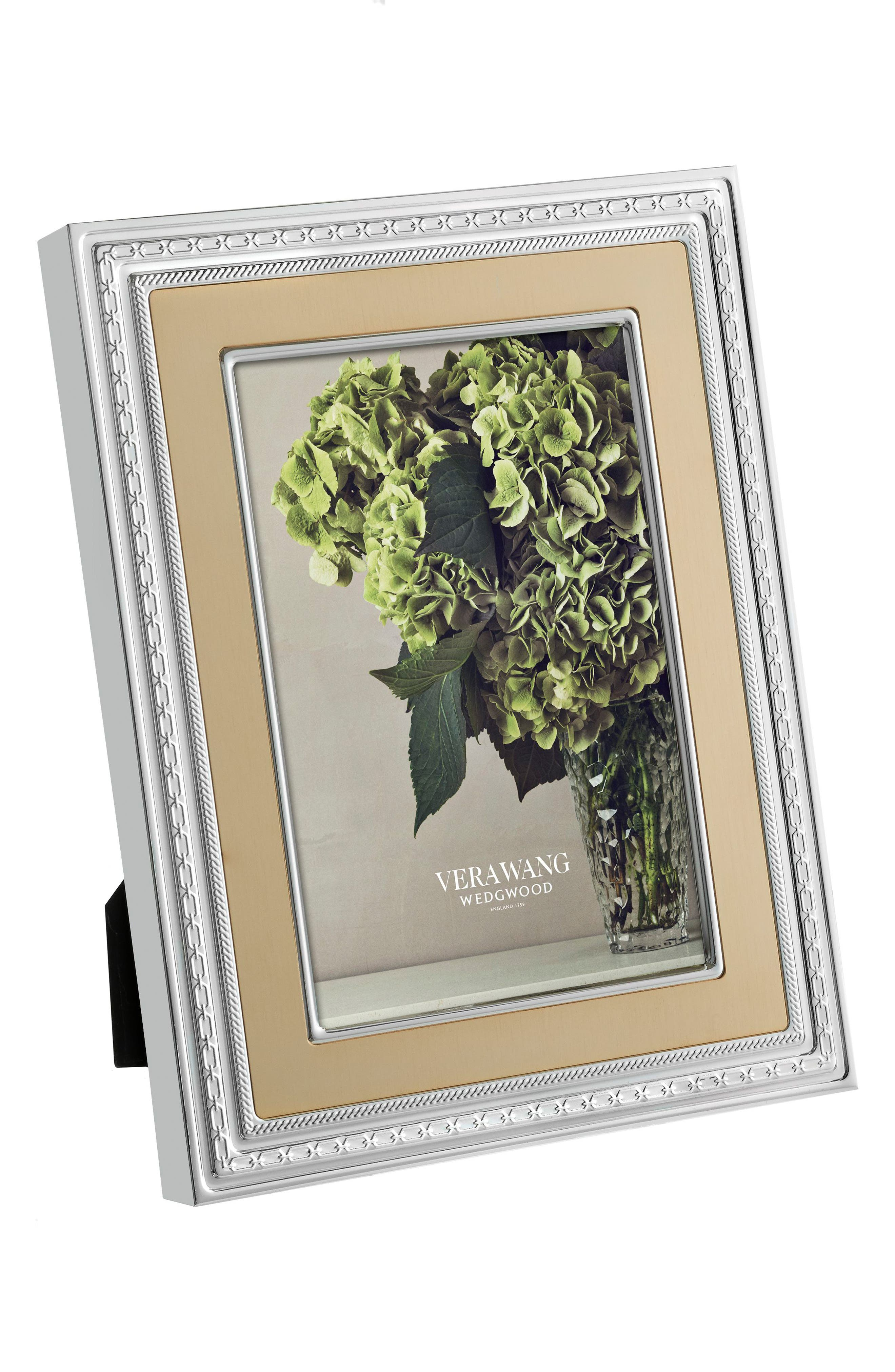 x Wedgwood With Love Picture Frame,                             Alternate thumbnail 3, color,                             Metallic Silver