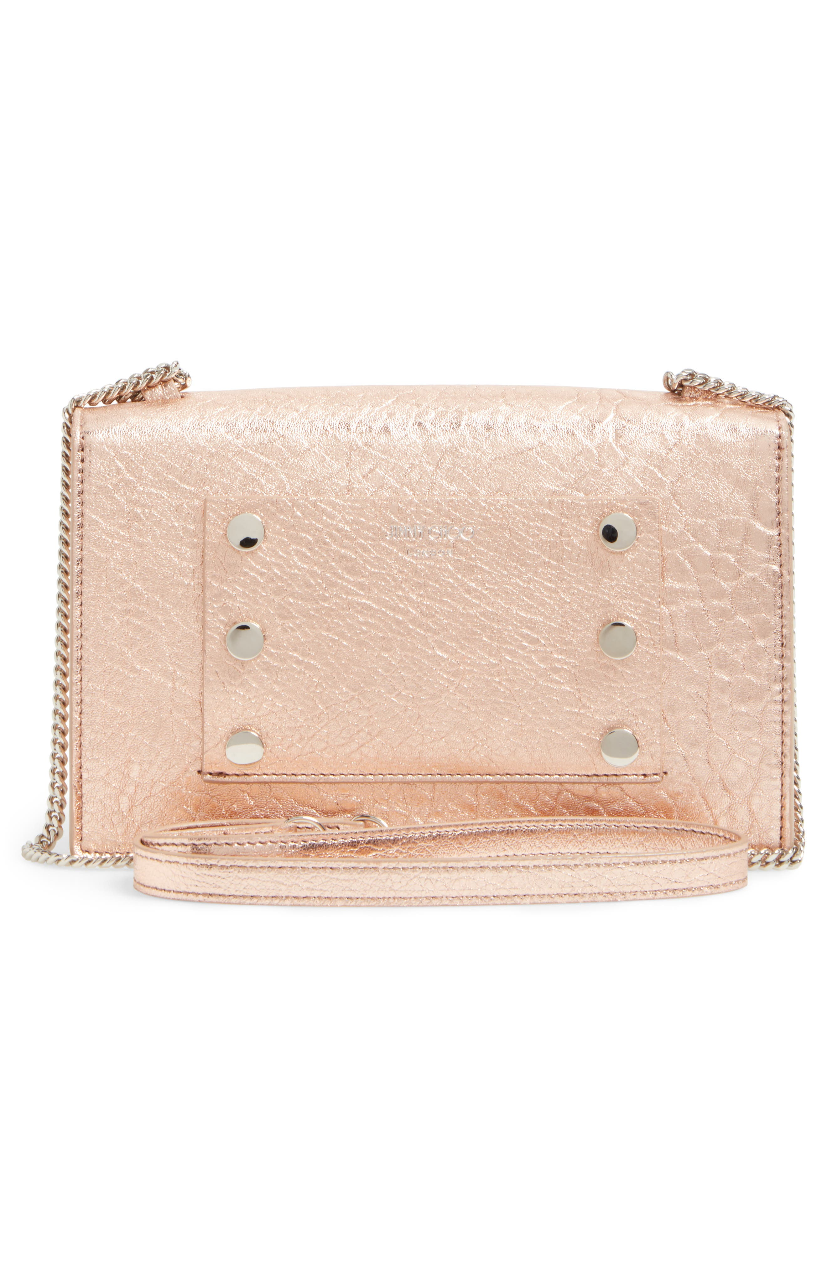 Alternate Image 3  - Jimmy Choo Leila Grainy Lambskin Leather Crossbody Bag