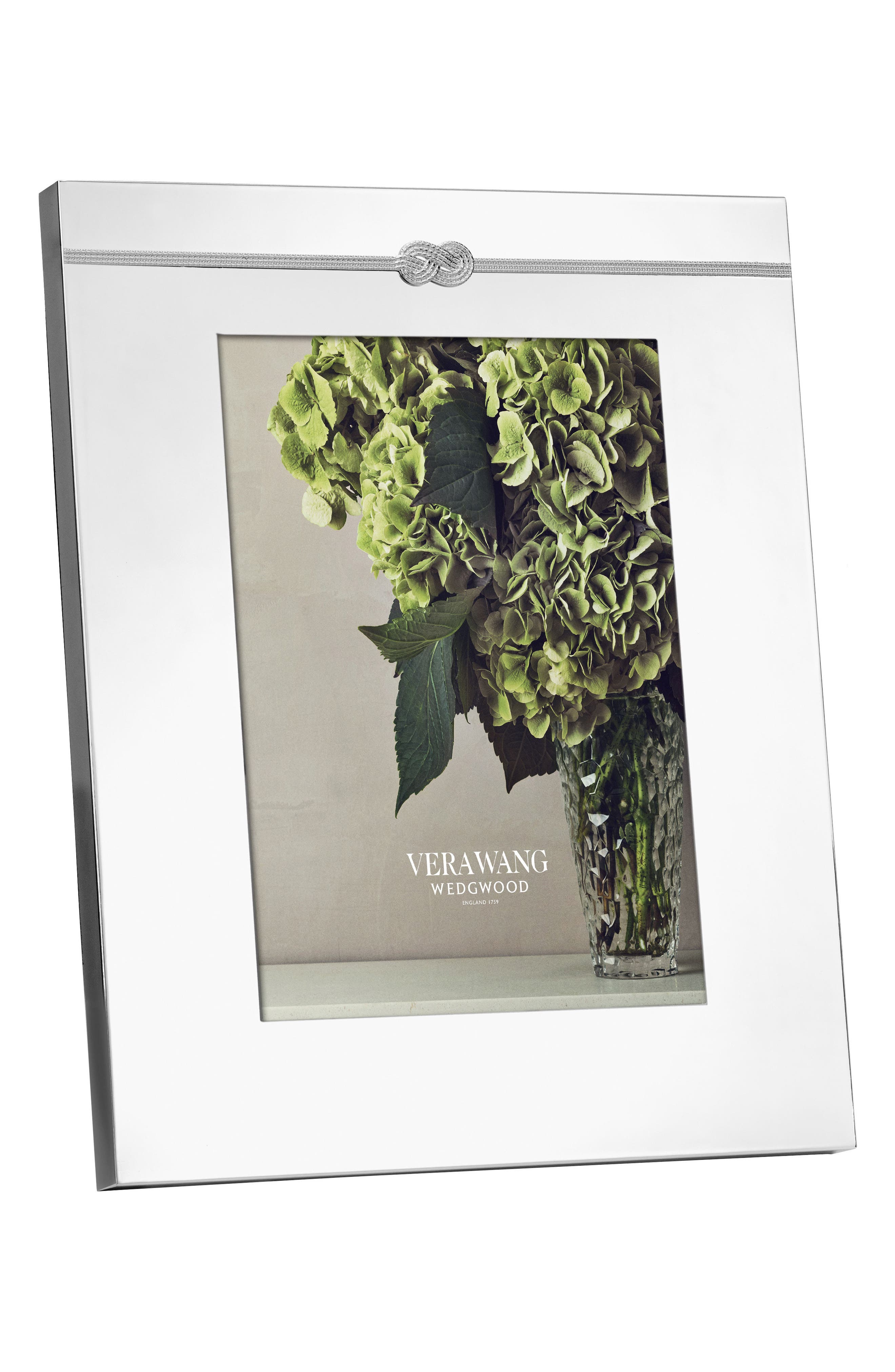 x Wedgewood Infinity Picture Frame,                             Main thumbnail 1, color,                             Metallic Silver