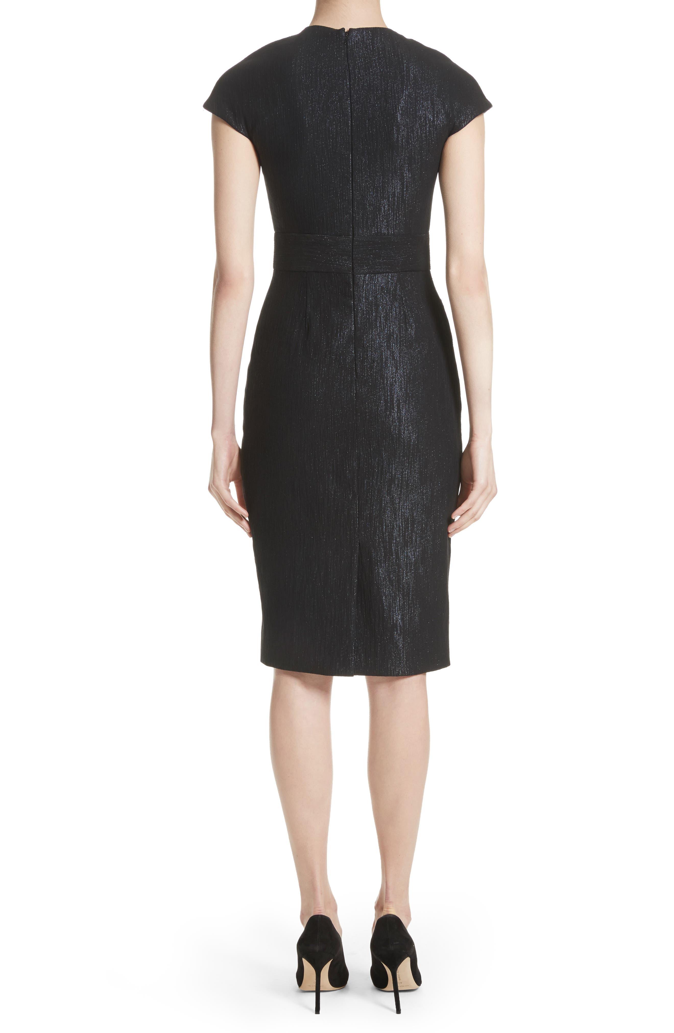 Alternate Image 2  - Lela Rose Shimmer Jacquard Sheath Dress
