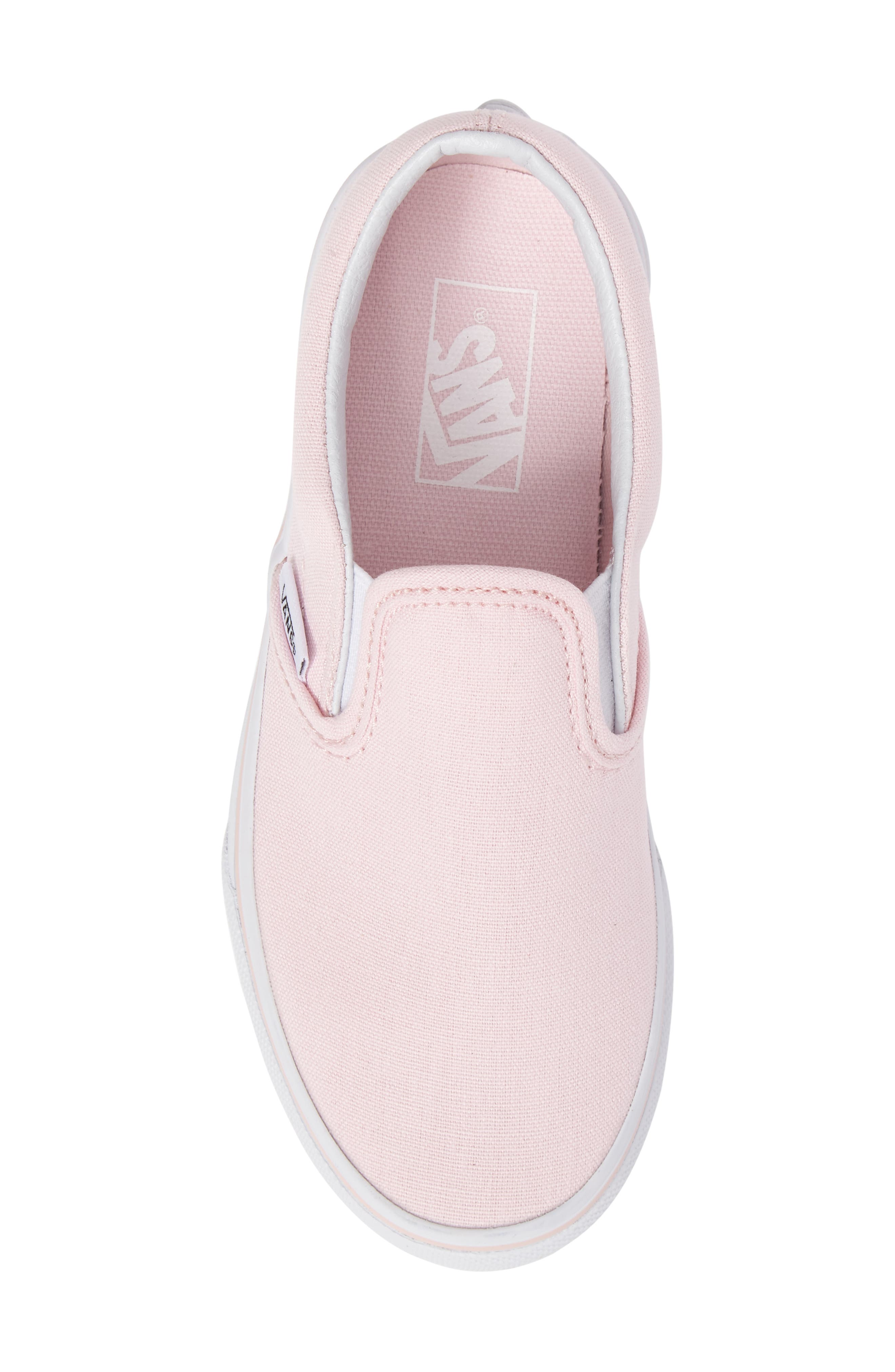 Classic Slip-On Sneaker,                             Alternate thumbnail 5, color,                             Ballerina/ True White