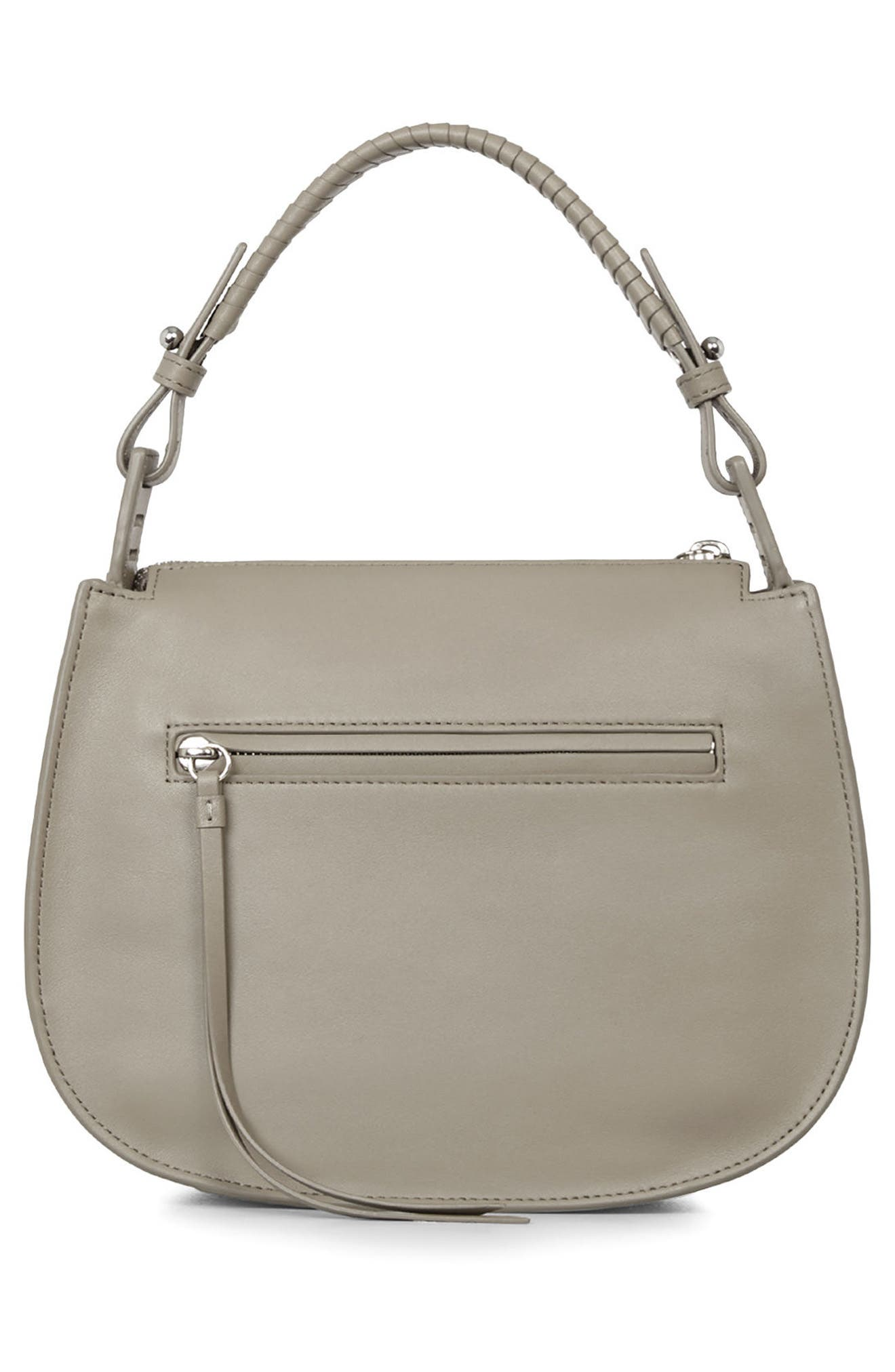 Casey Lea Calfskin Leather & Suede Hobo,                             Alternate thumbnail 2, color,                             Taupe Grey