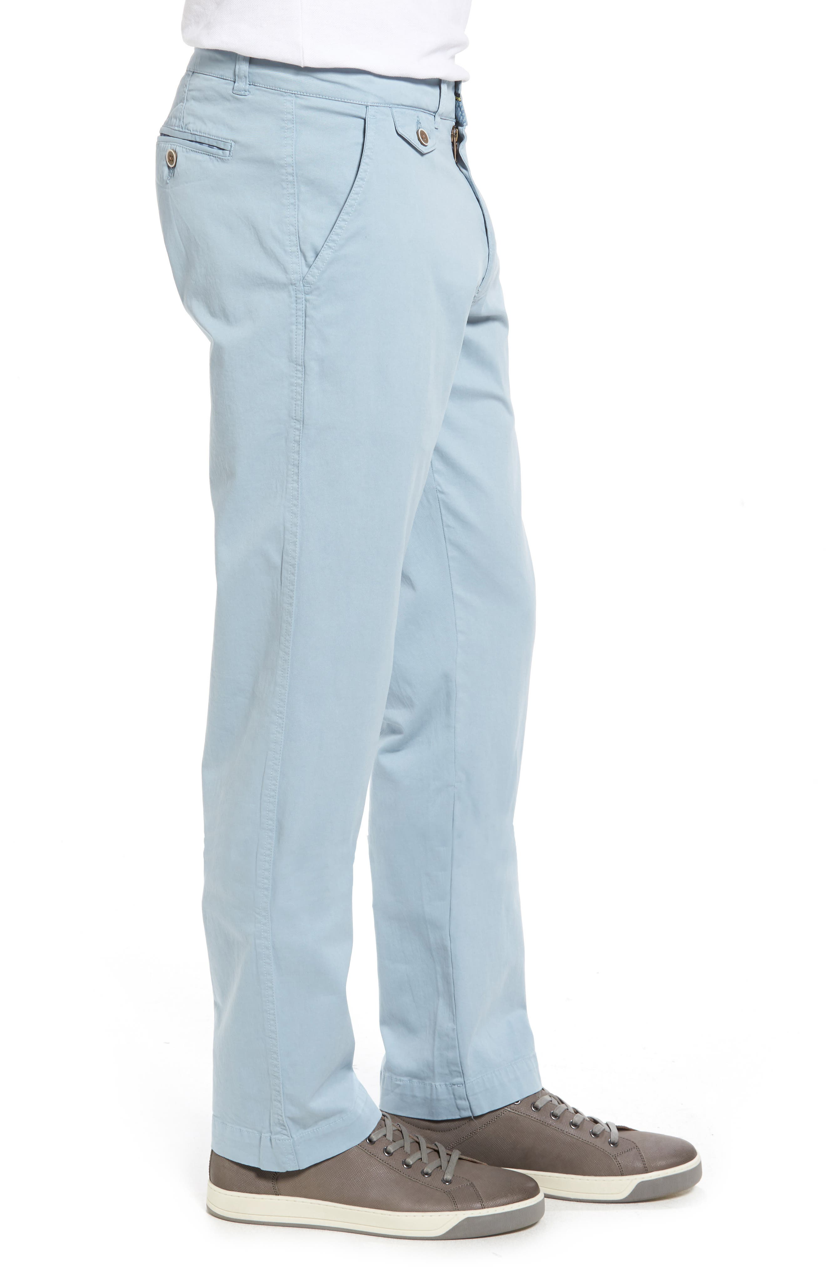 Sunny Modern Fit Stretch Twill Chinos,                             Alternate thumbnail 3, color,                             Citadel Blue