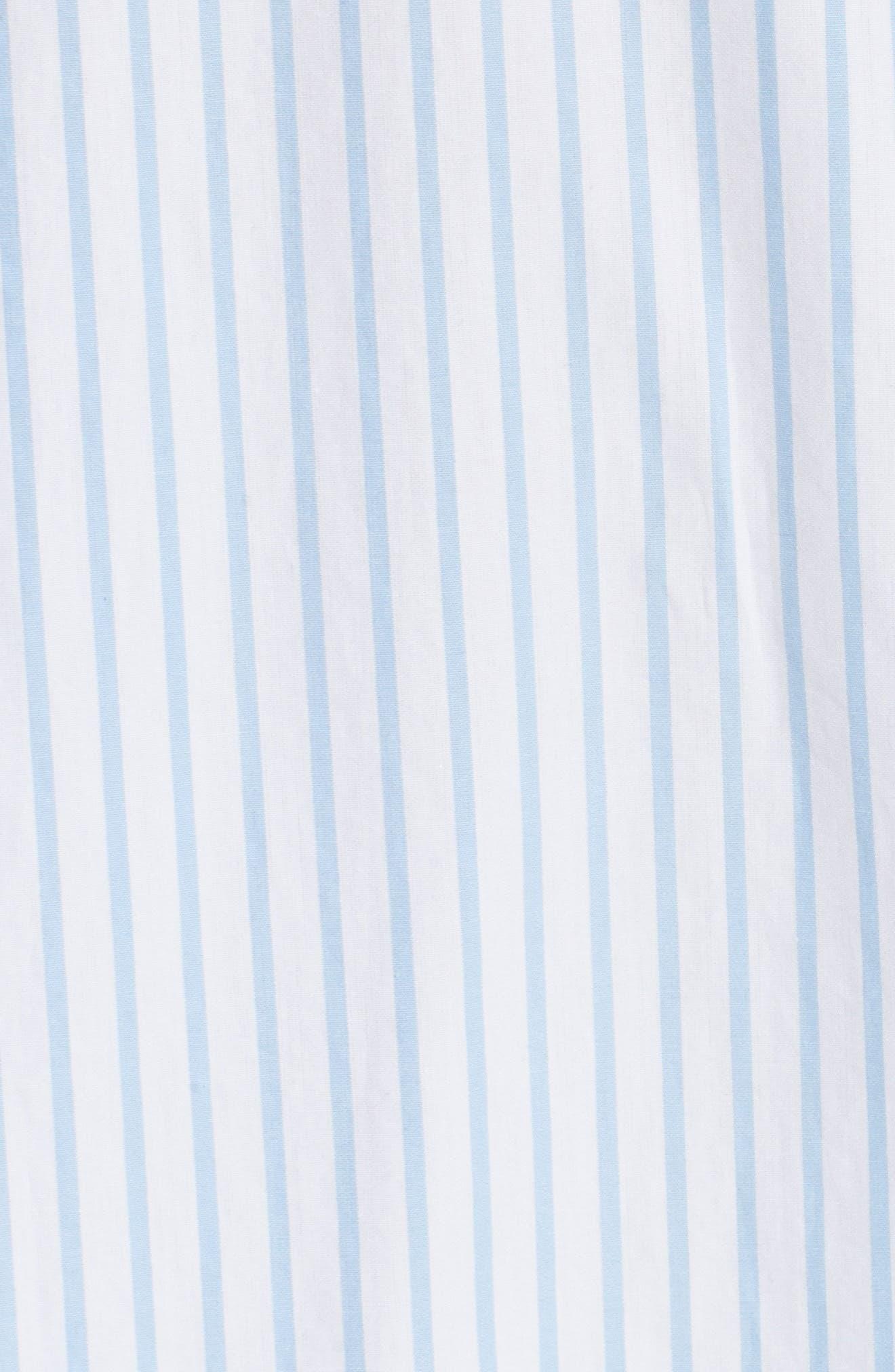 Stripe Poplin Shirt,                             Alternate thumbnail 6, color,                             Capri Blue Multi