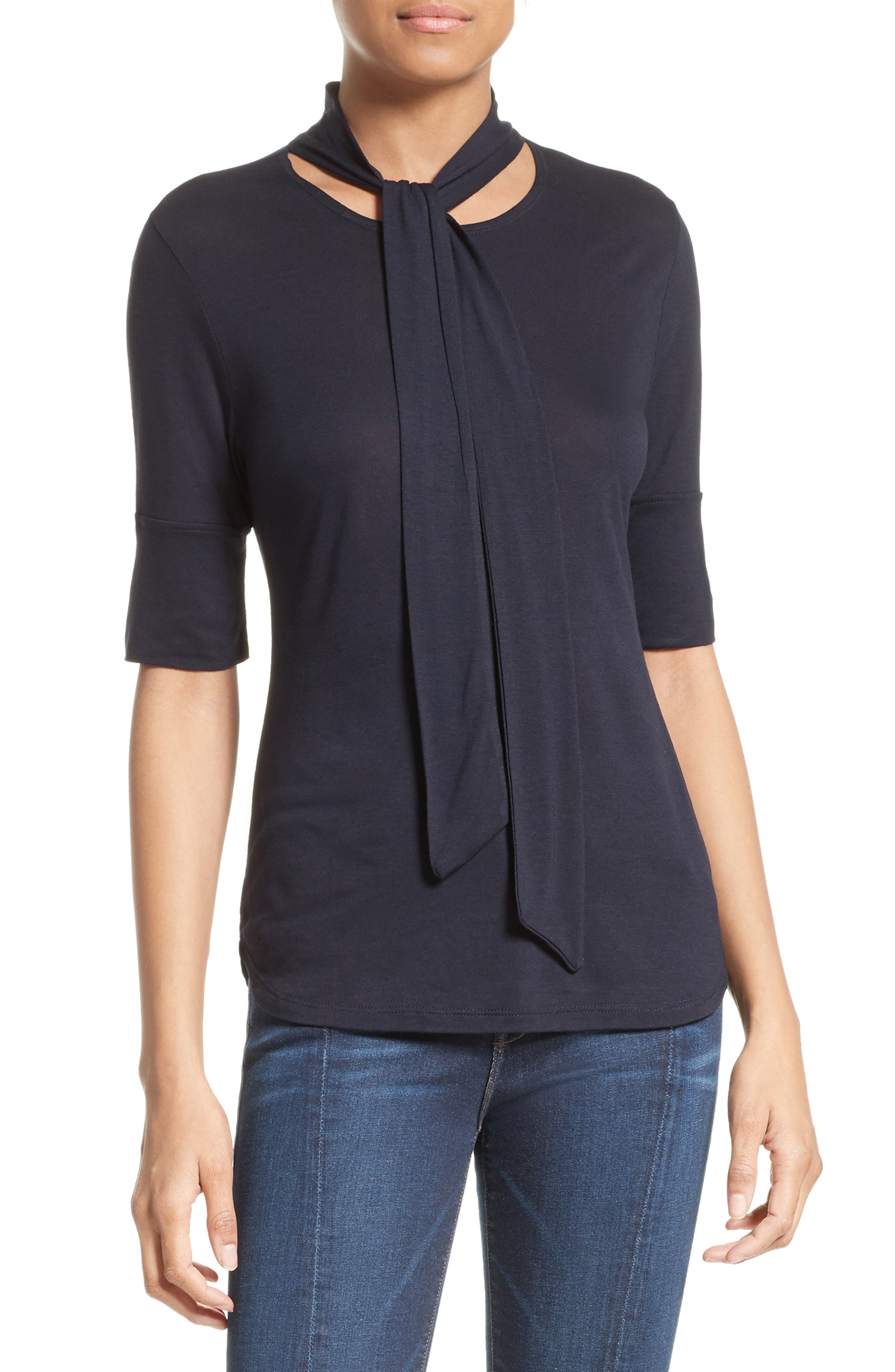 Alternate Image 1 Selected - FRAME Tie Neck Top