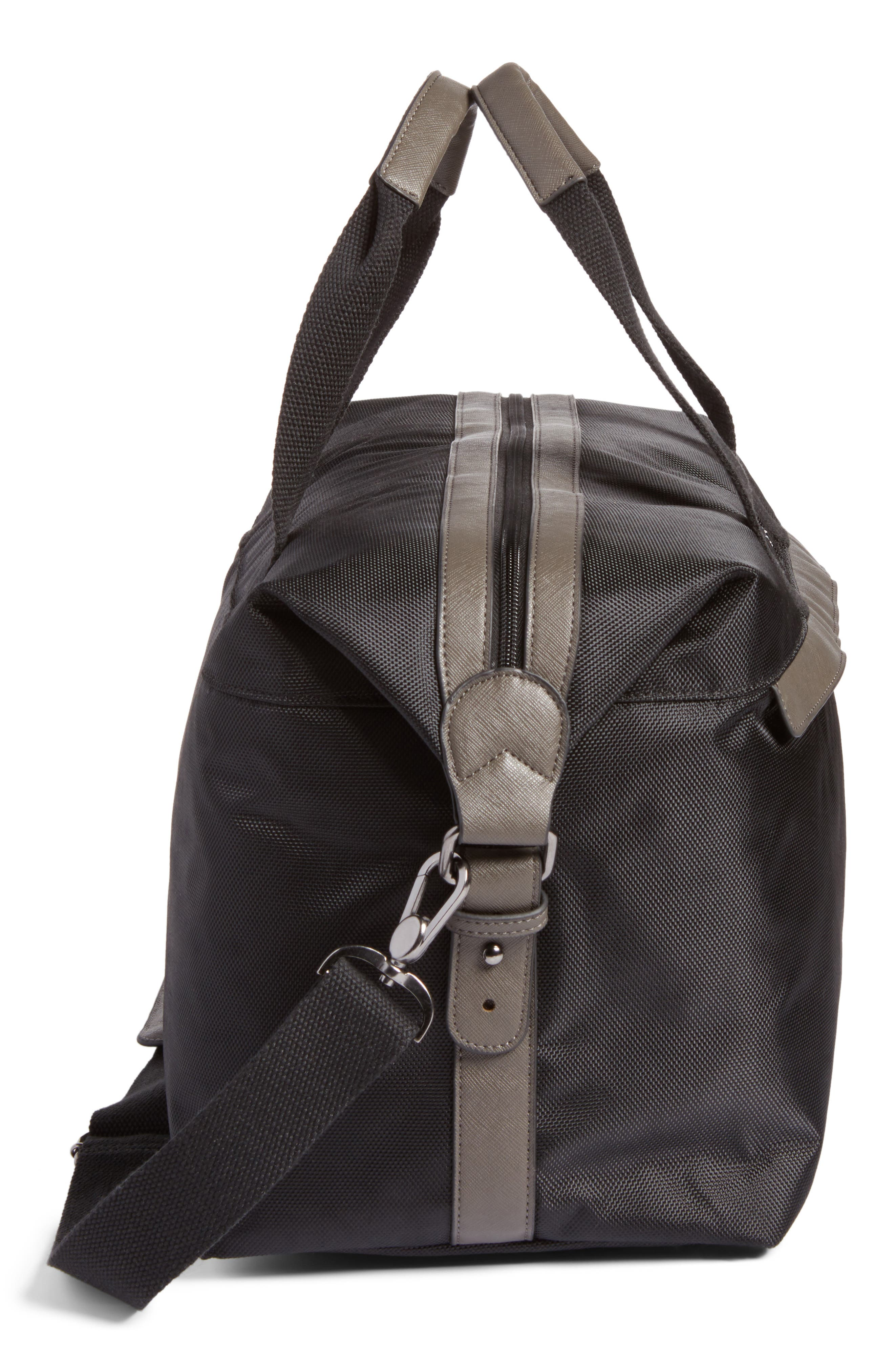 Zeebee Duffel Bag,                             Alternate thumbnail 5, color,                             Black