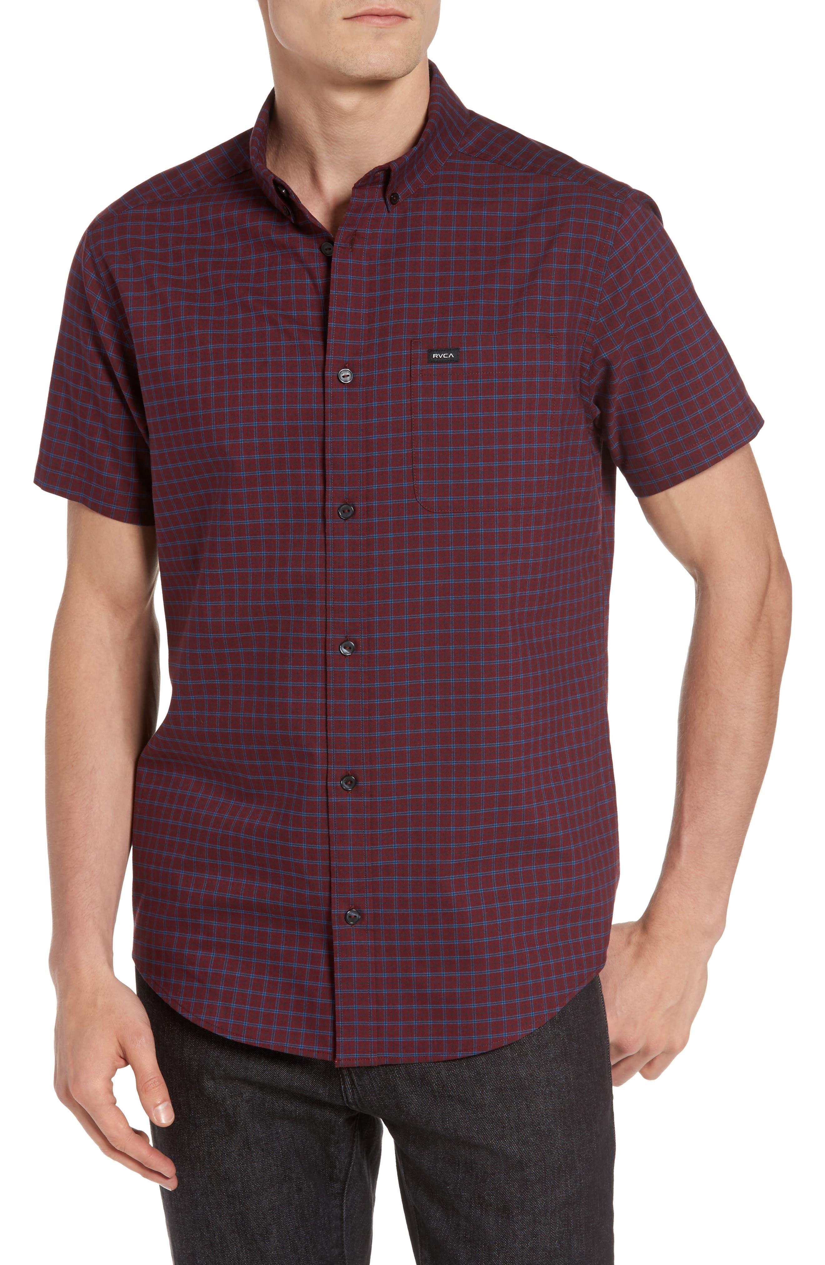 RVCA Thatll Do Tattersall Woven Shirt