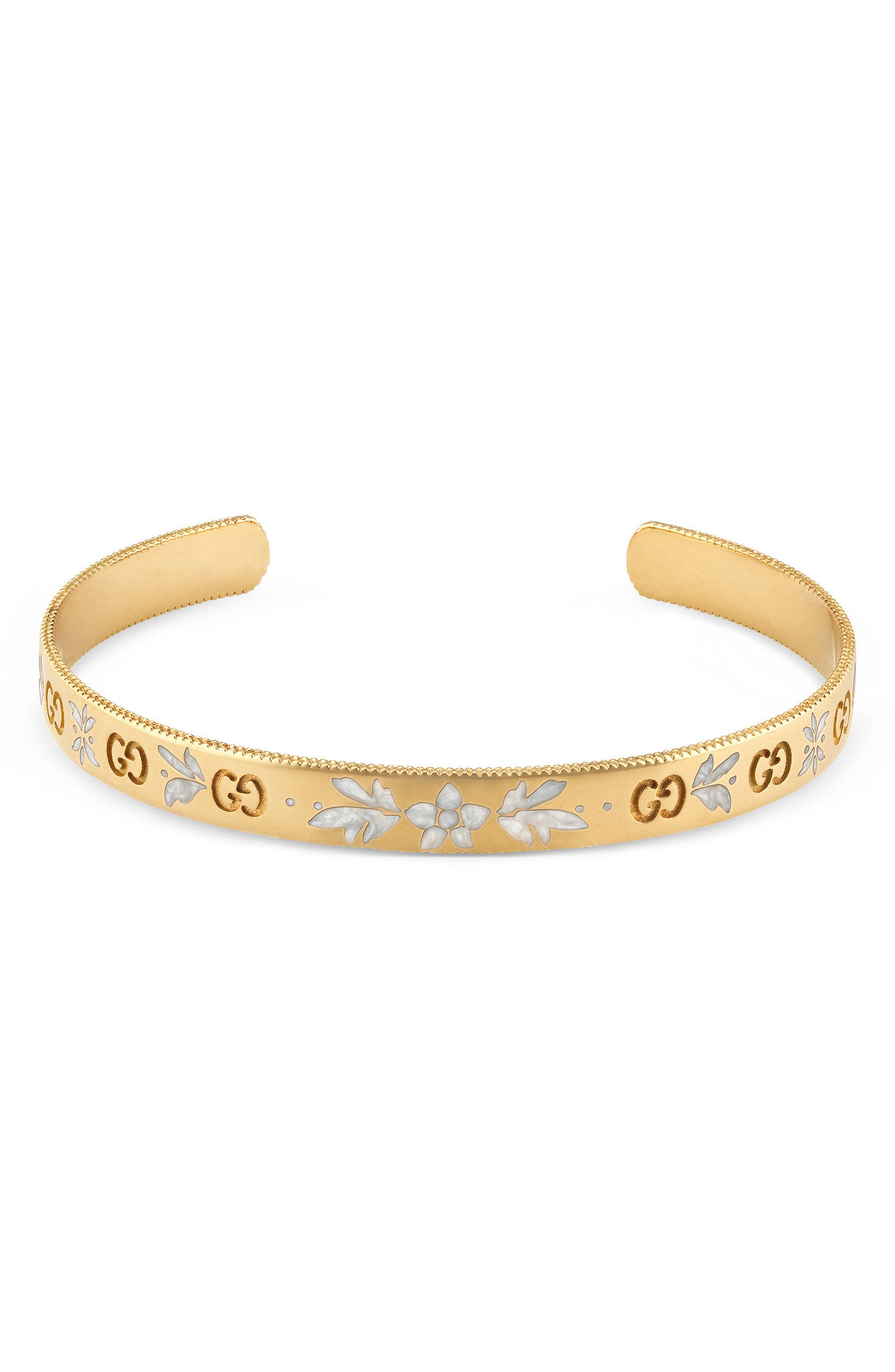 Icon Cuff,                             Main thumbnail 1, color,                             Yellow Gold