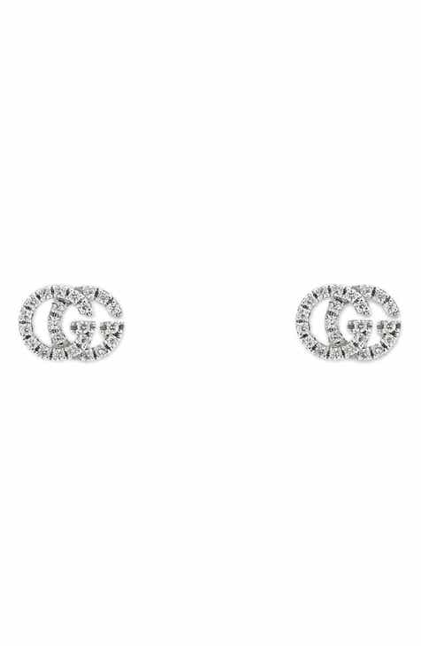 6d22e2191f6 Gucci Double-G Diamond Stud Earrings