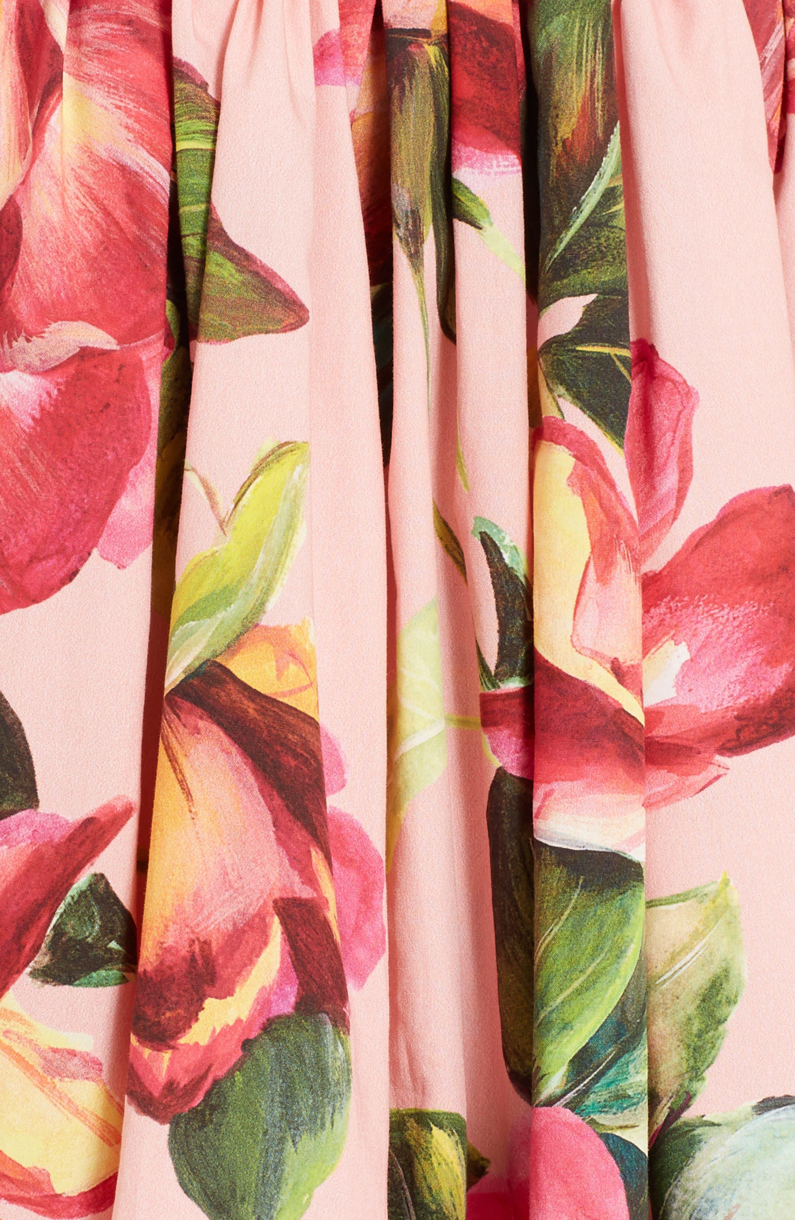 Alternate Image 3  - Dolce&Gabbana Rose Print Poplin Skirt