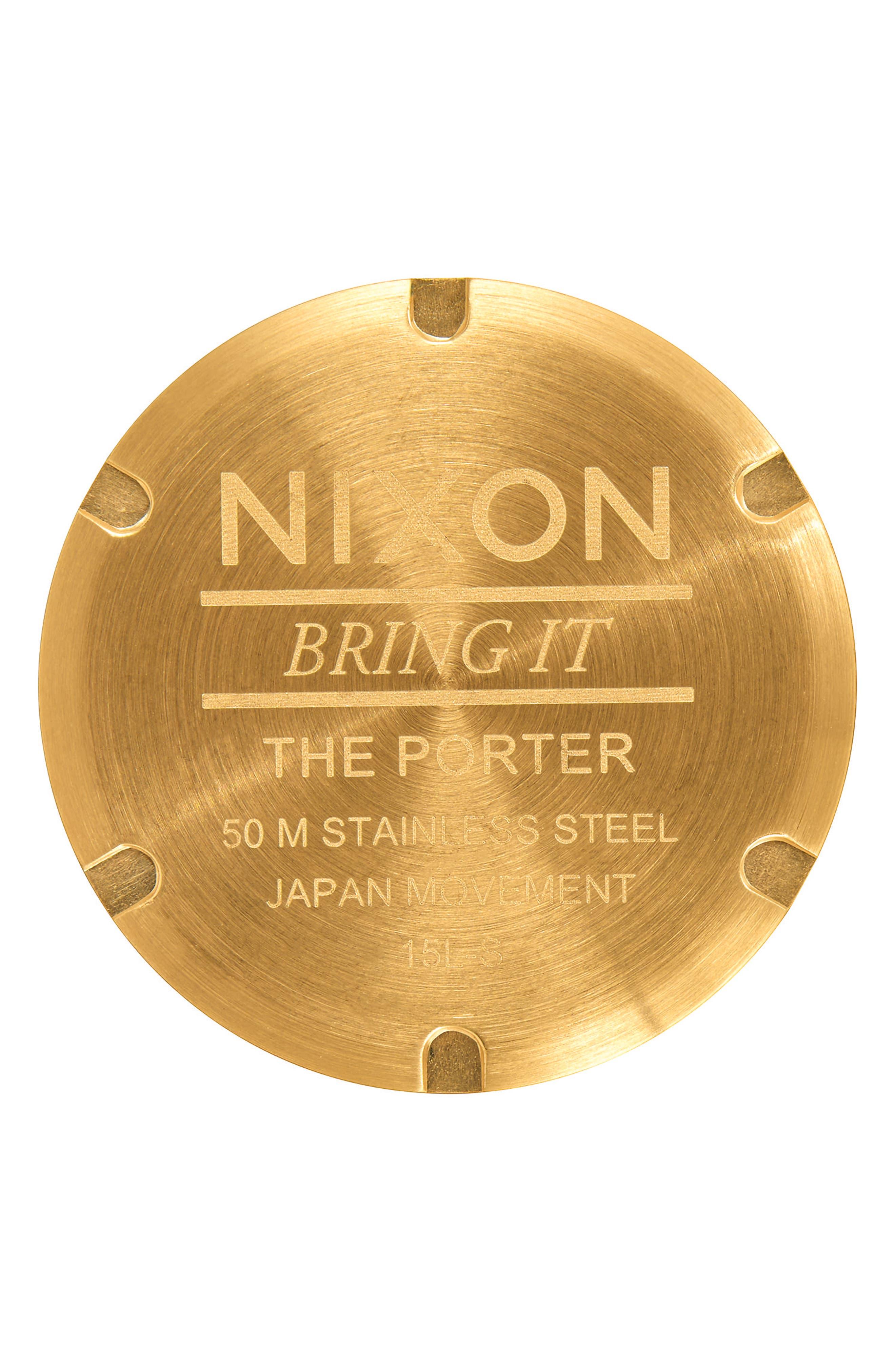 Porter Bracelet Watch, 40mm,                             Alternate thumbnail 3, color,                             Gold/ White/ Gold