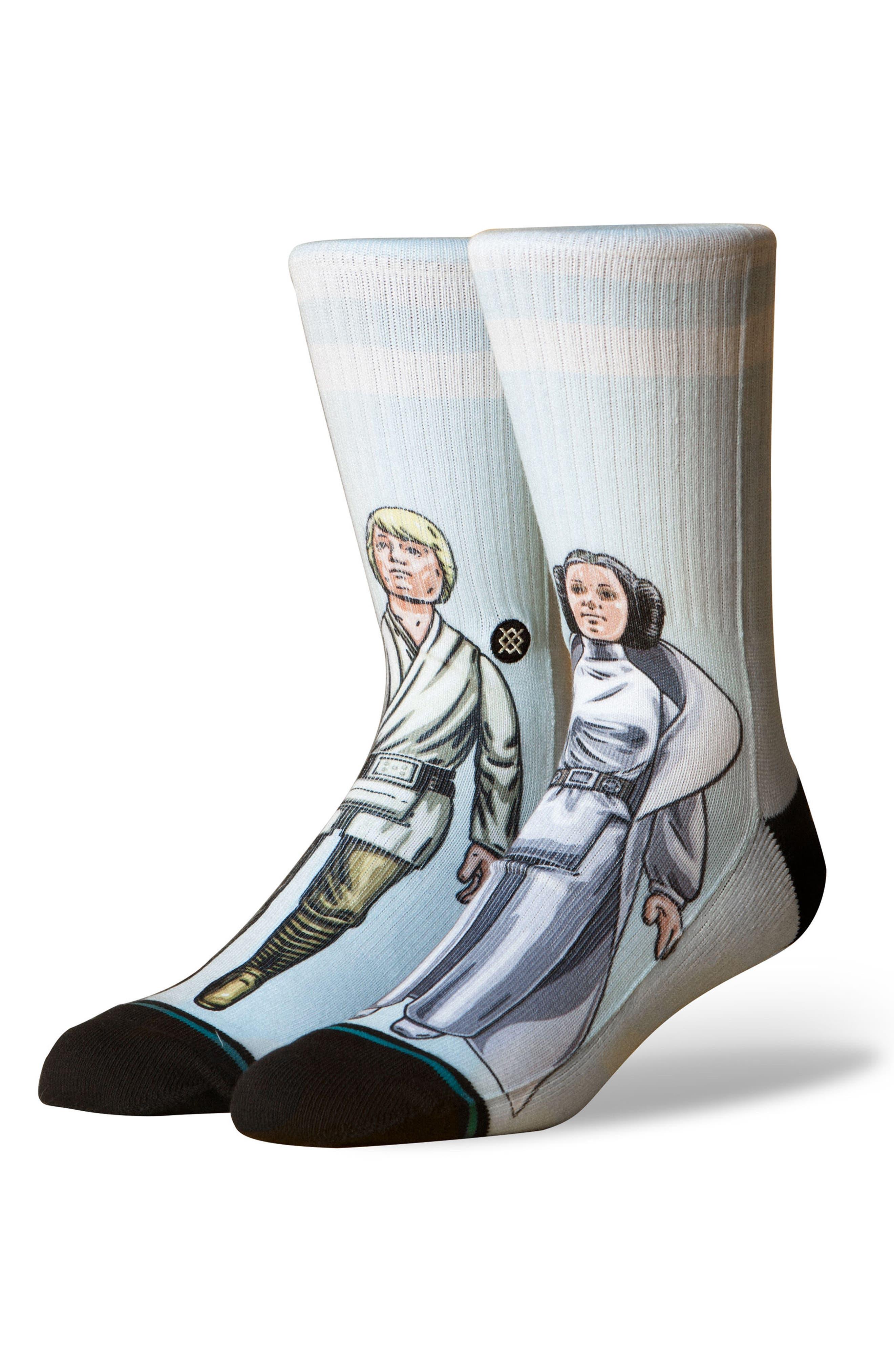Star Wars<sup>™</sup> Family Force Socks,                             Main thumbnail 1, color,                             Aqua