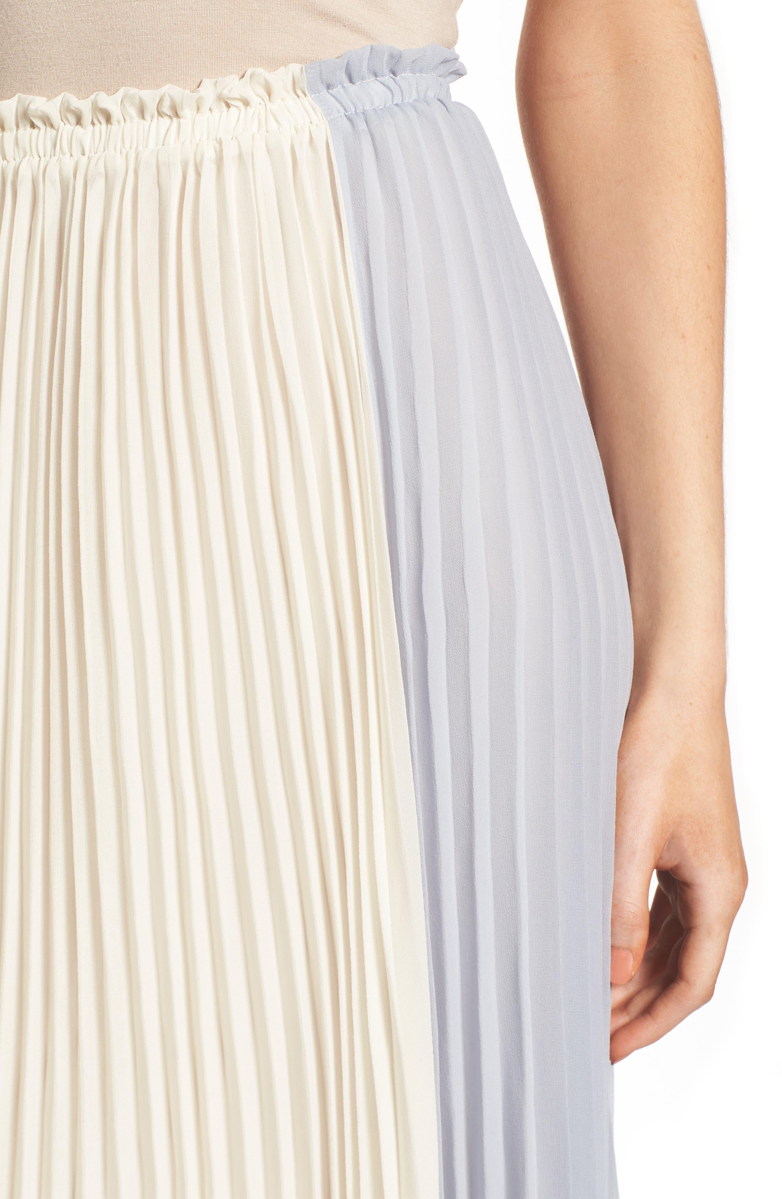Alternate Image 4  - June & Hudson Colorblock Pleat Skirt