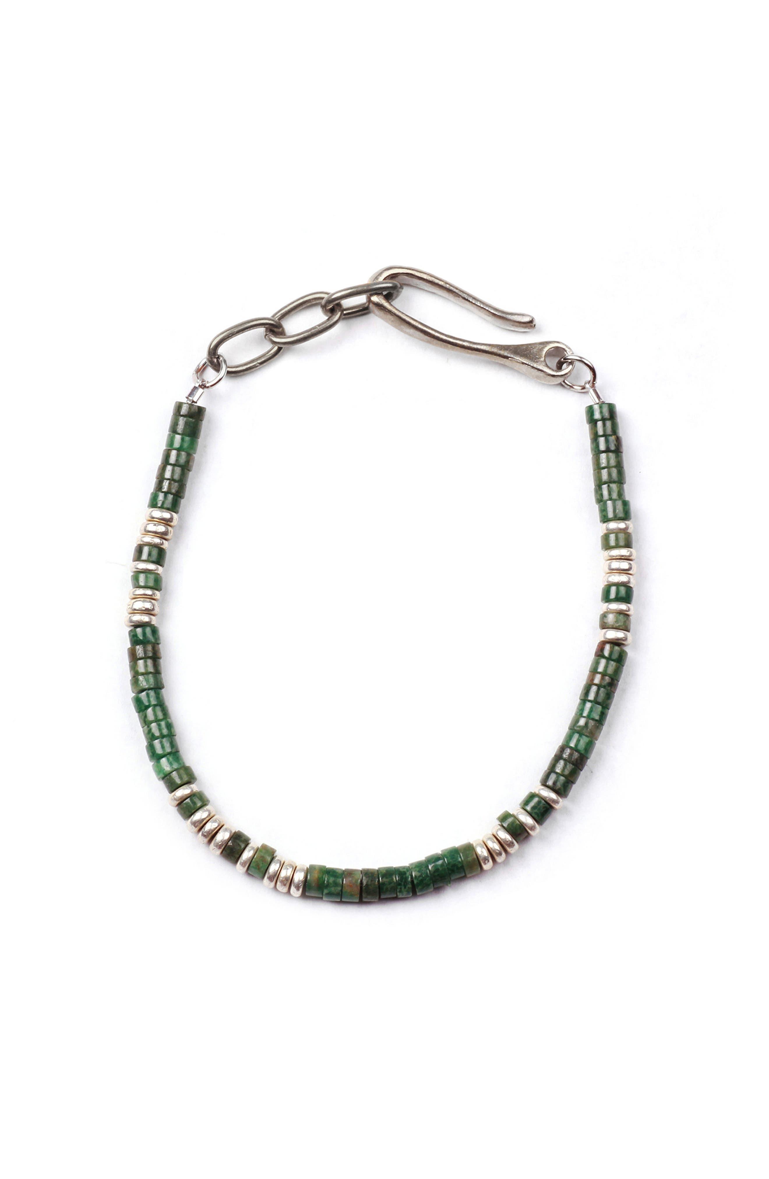 Luck Morse Bracelet,                         Main,                         color, Silver / Turquoise
