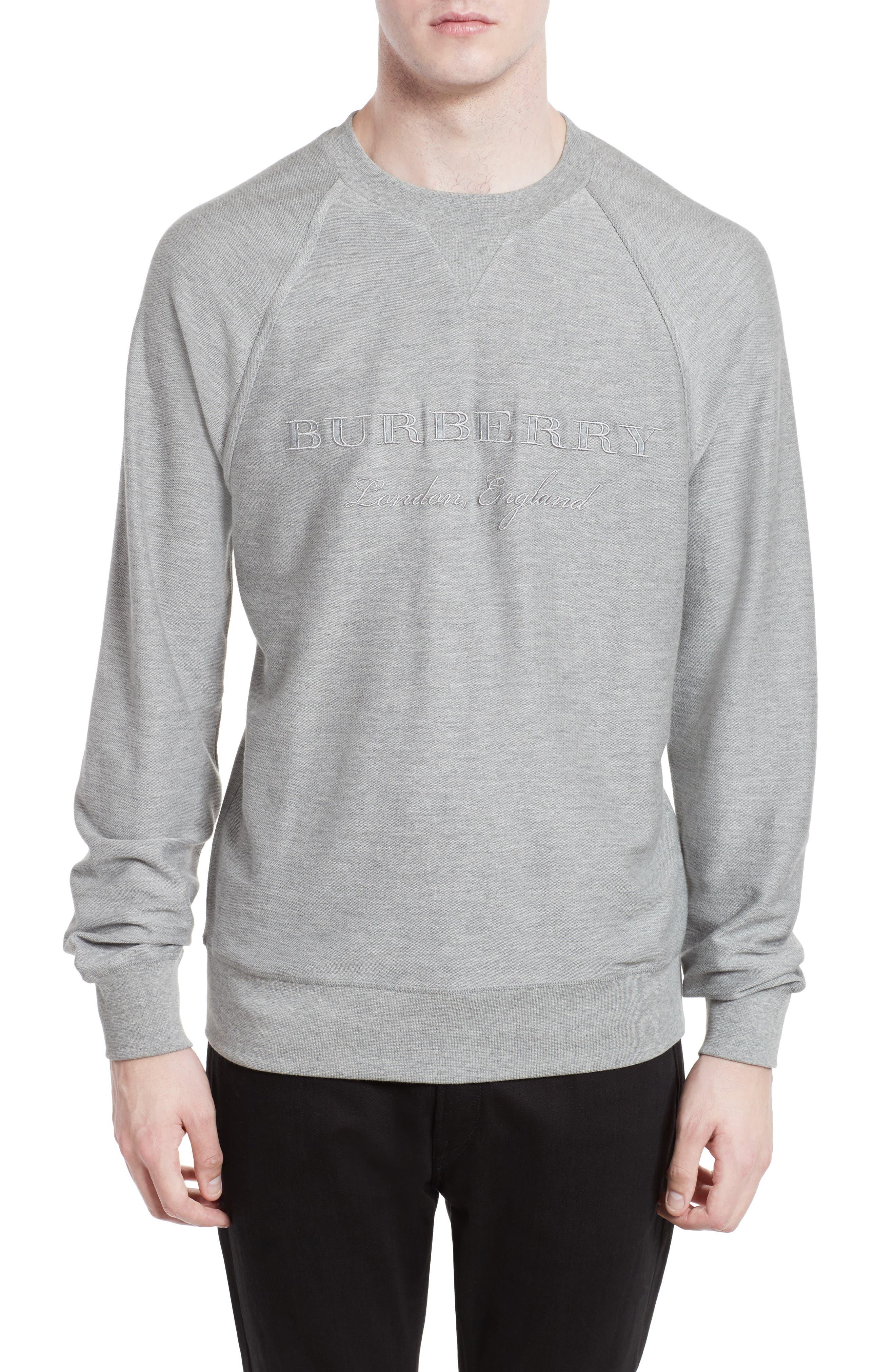 Burberry Coleford Embroidered Logo Sweatshirt