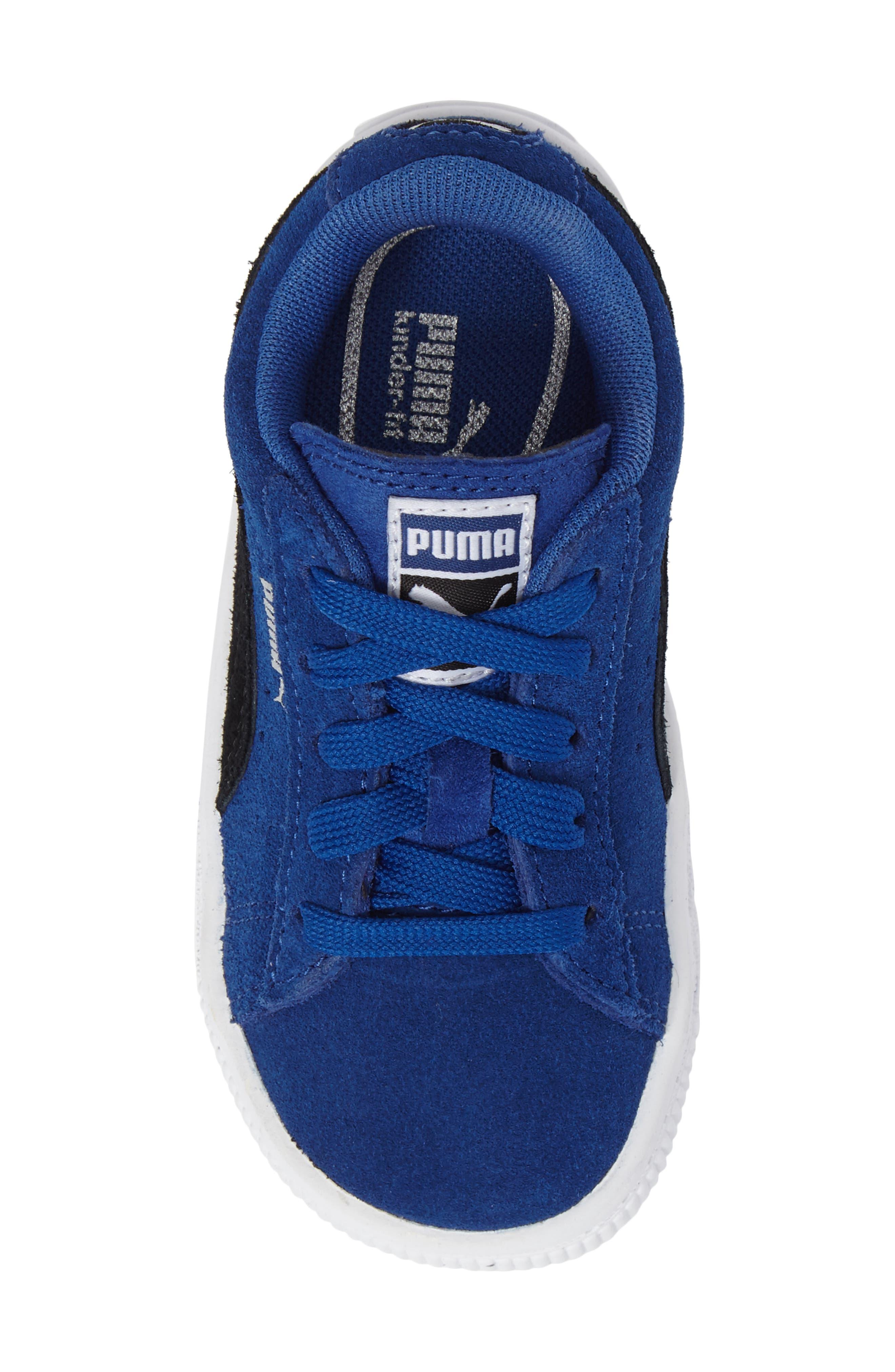 'Suede'Sneaker,                             Alternate thumbnail 5, color,                             Blue/ Black