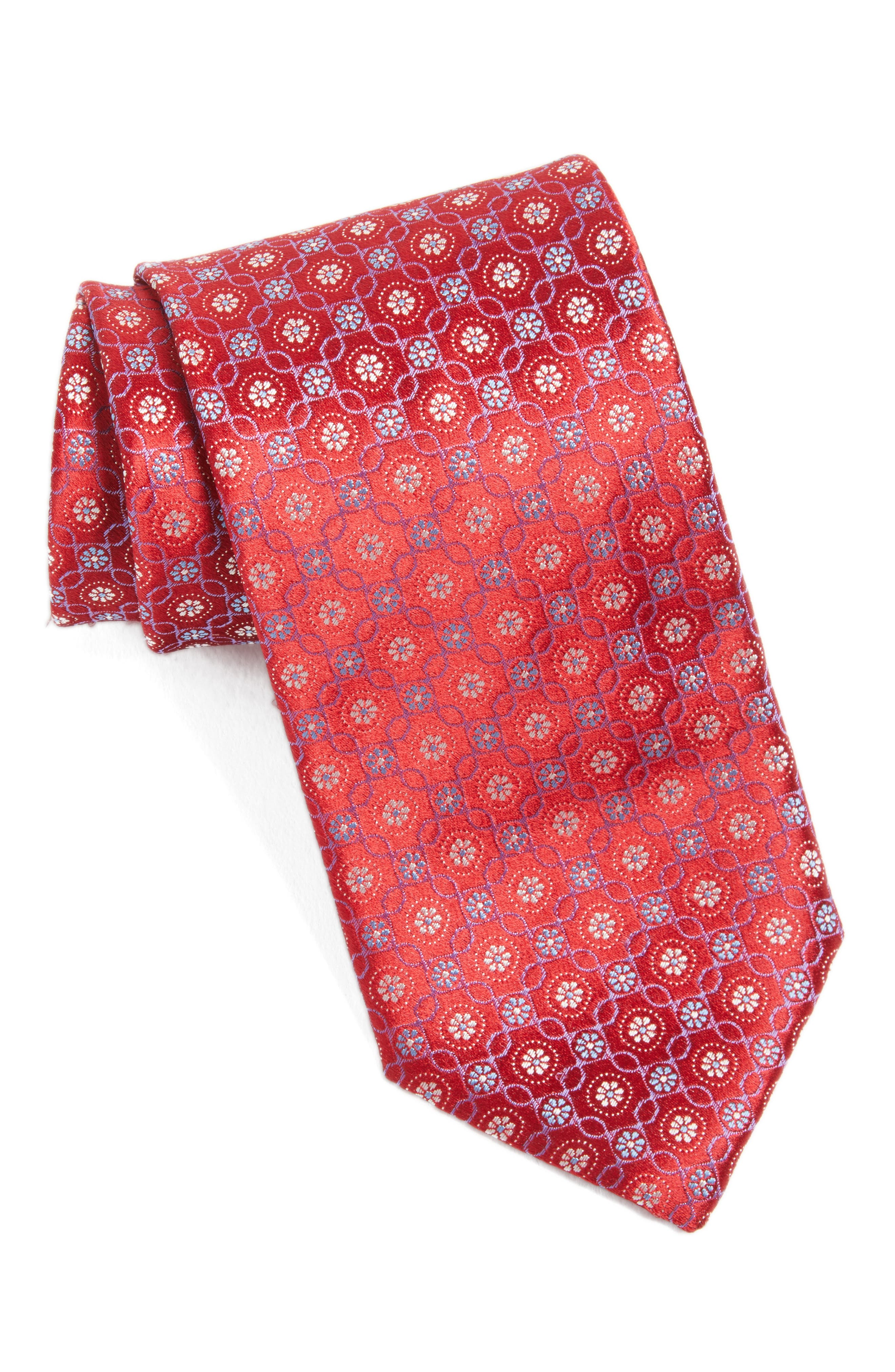 Alternate Image 1 Selected - Canali Medallion Silk Tie