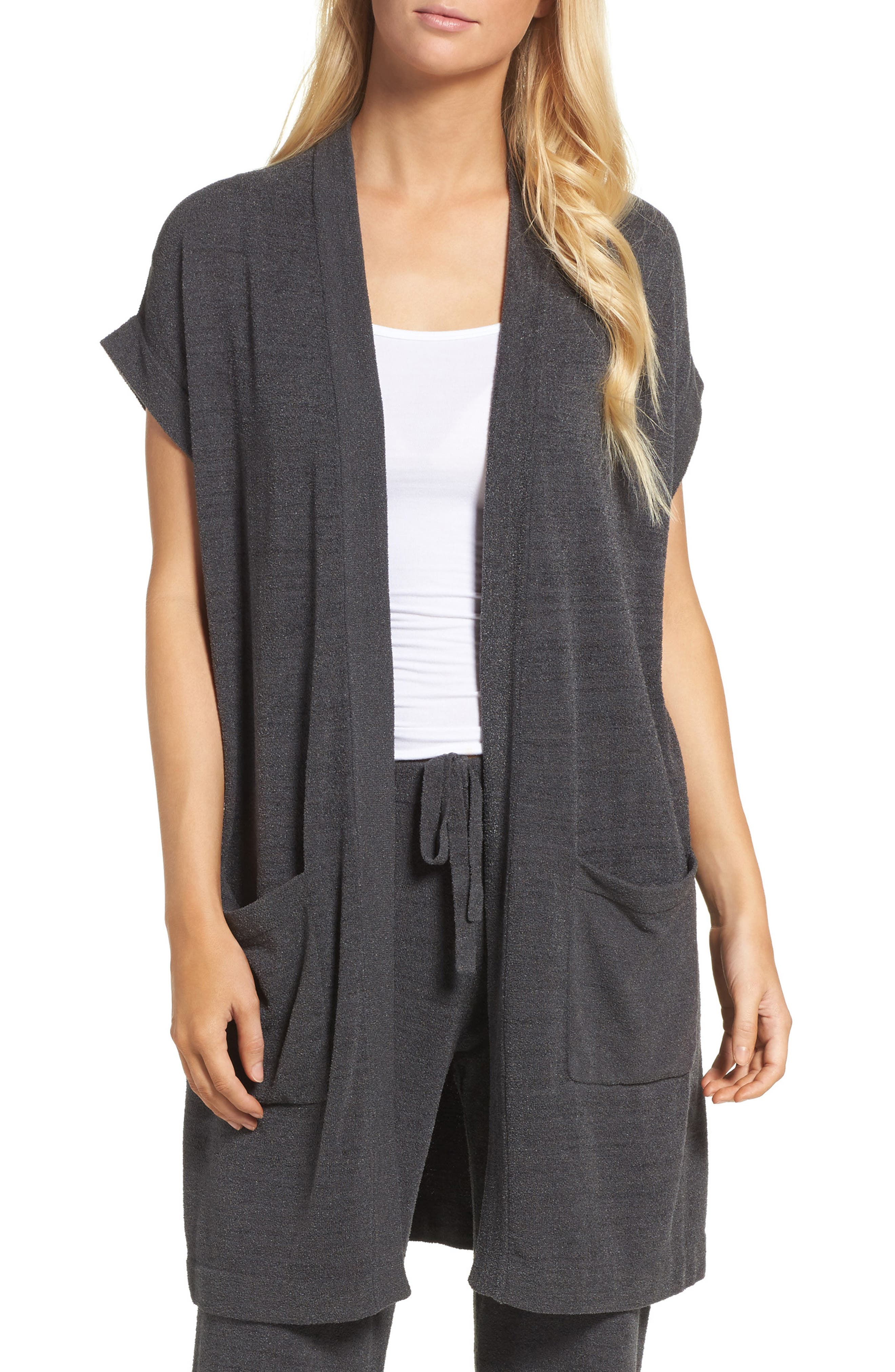 Cozychic Ultra Lite<sup>®</sup> Lounge Cardigan,                         Main,                         color, Carbon