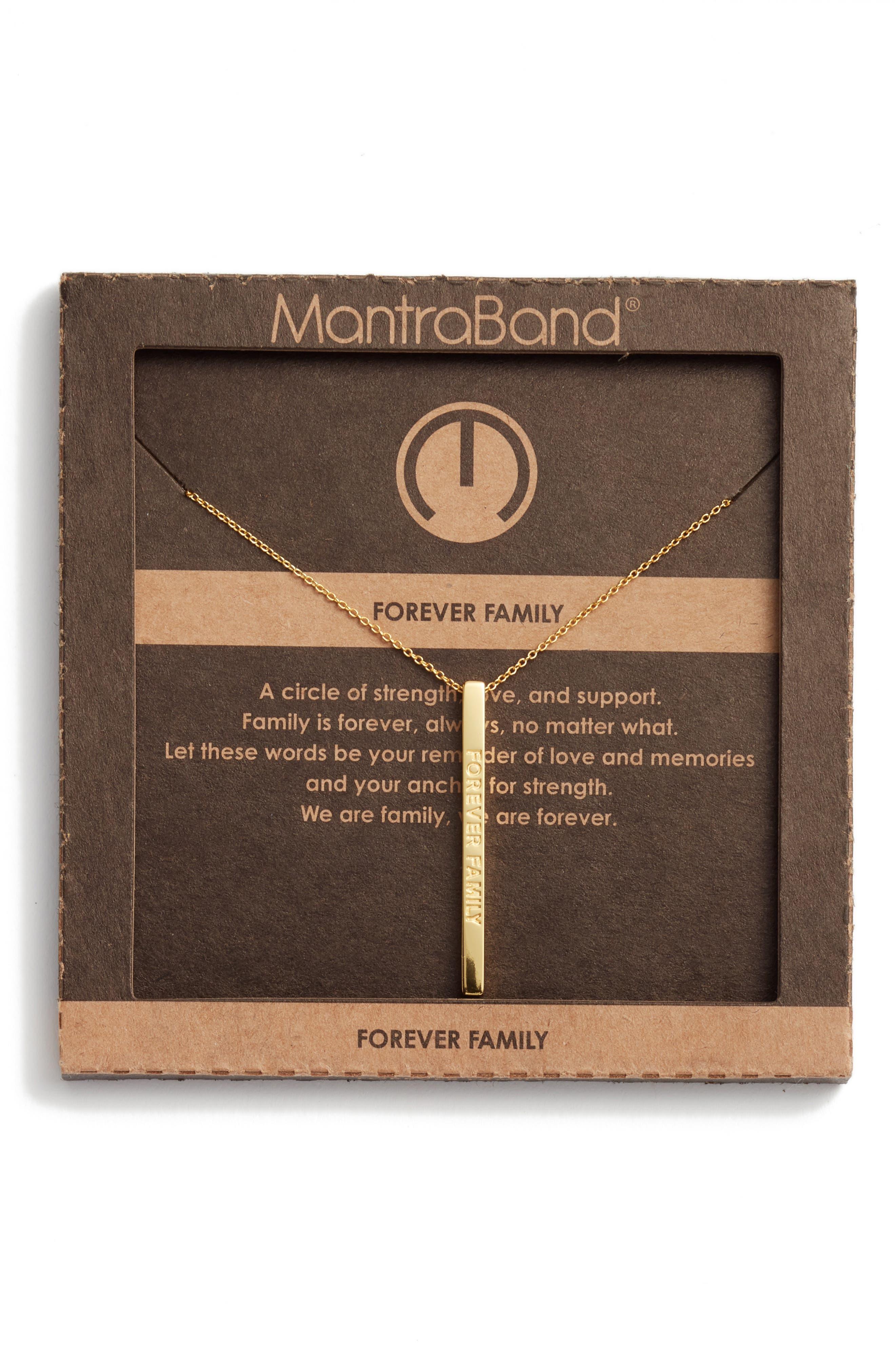 Alternate Image 3  - MantraBand® Forever Family Pendant Necklace