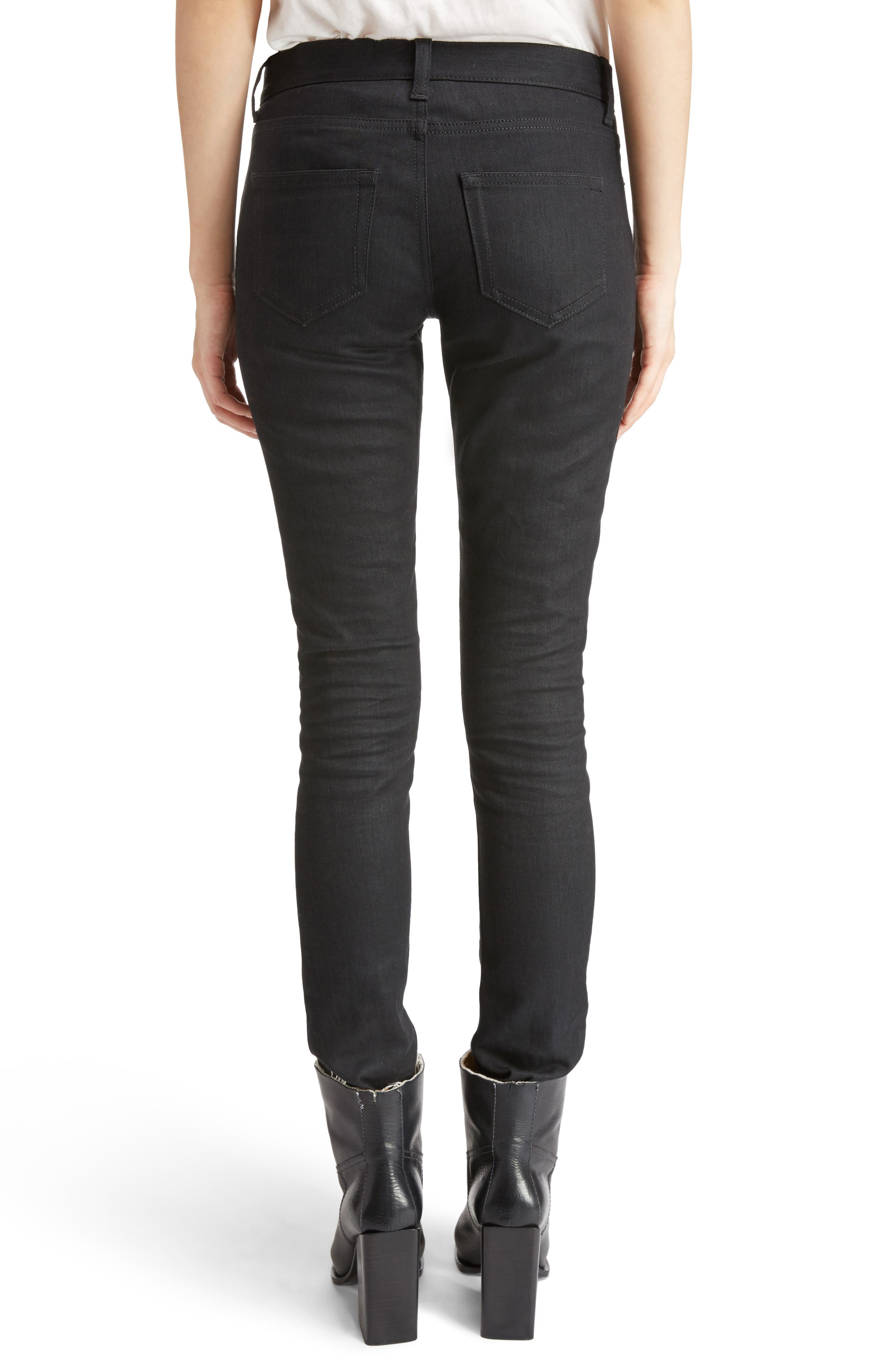 Alternate Image 2  - Saint Laurent High Waist Skinny Jeans